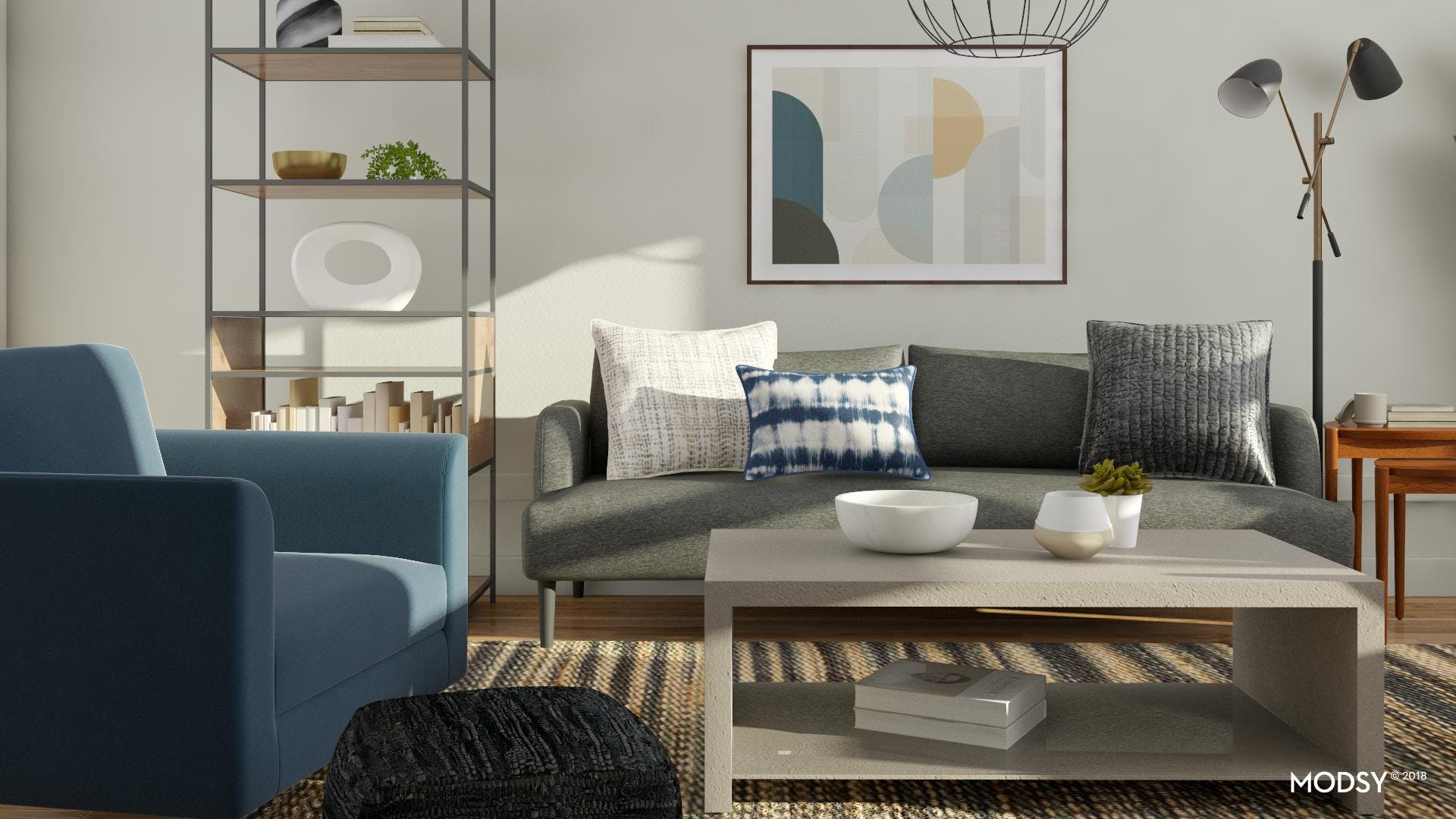 Abstract Thinking In An Industrial Living Room