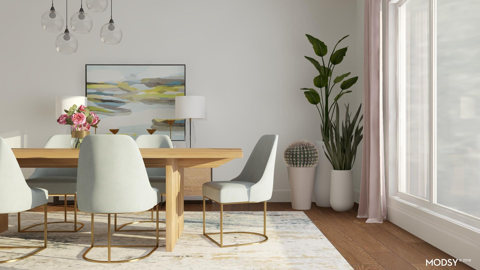 Plants in a Dining Room