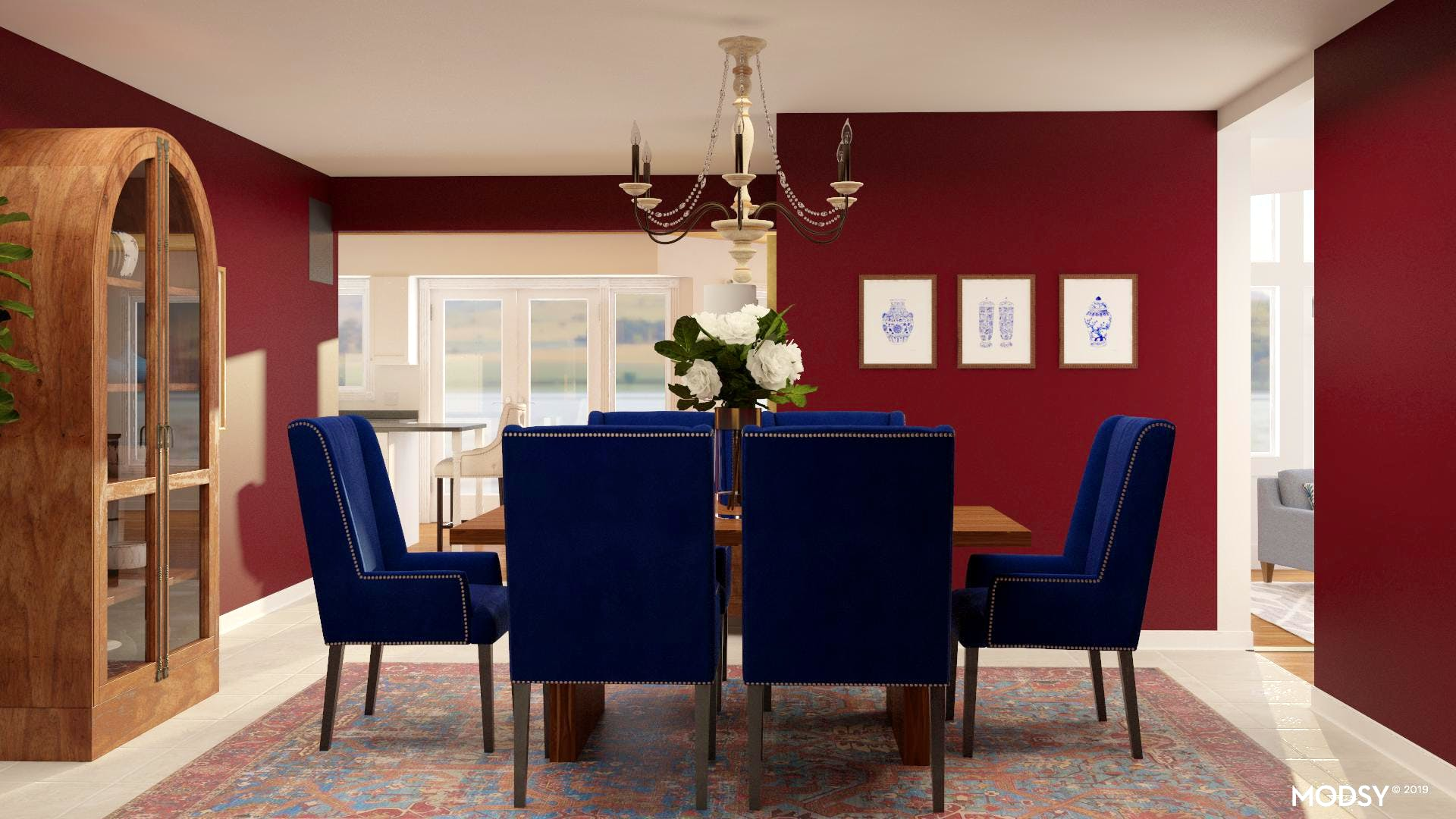 Rich Jewel Toned Dining Room | Traditional/Classic-Style ...