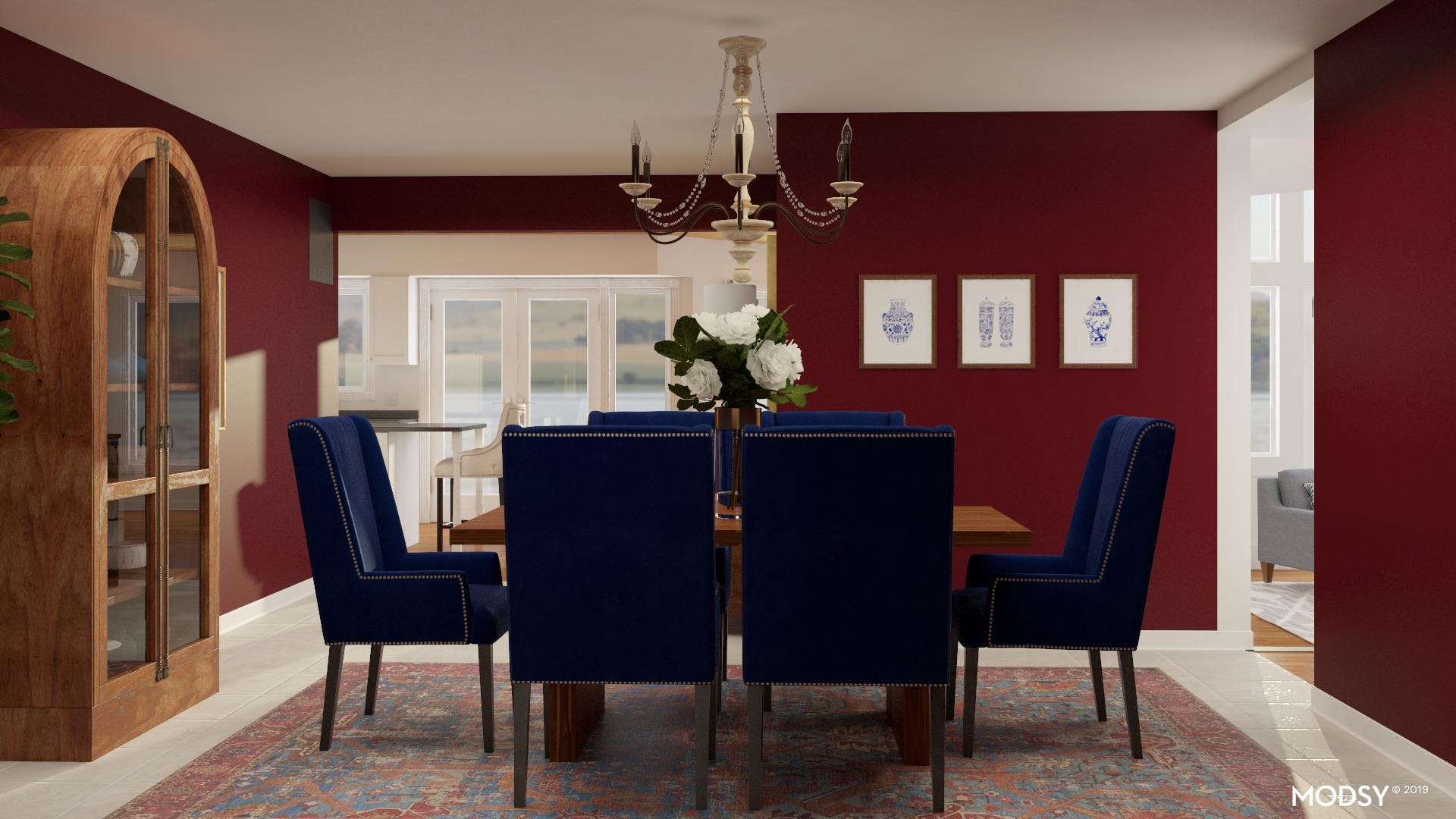 Rich Jewel Toned Dining Room