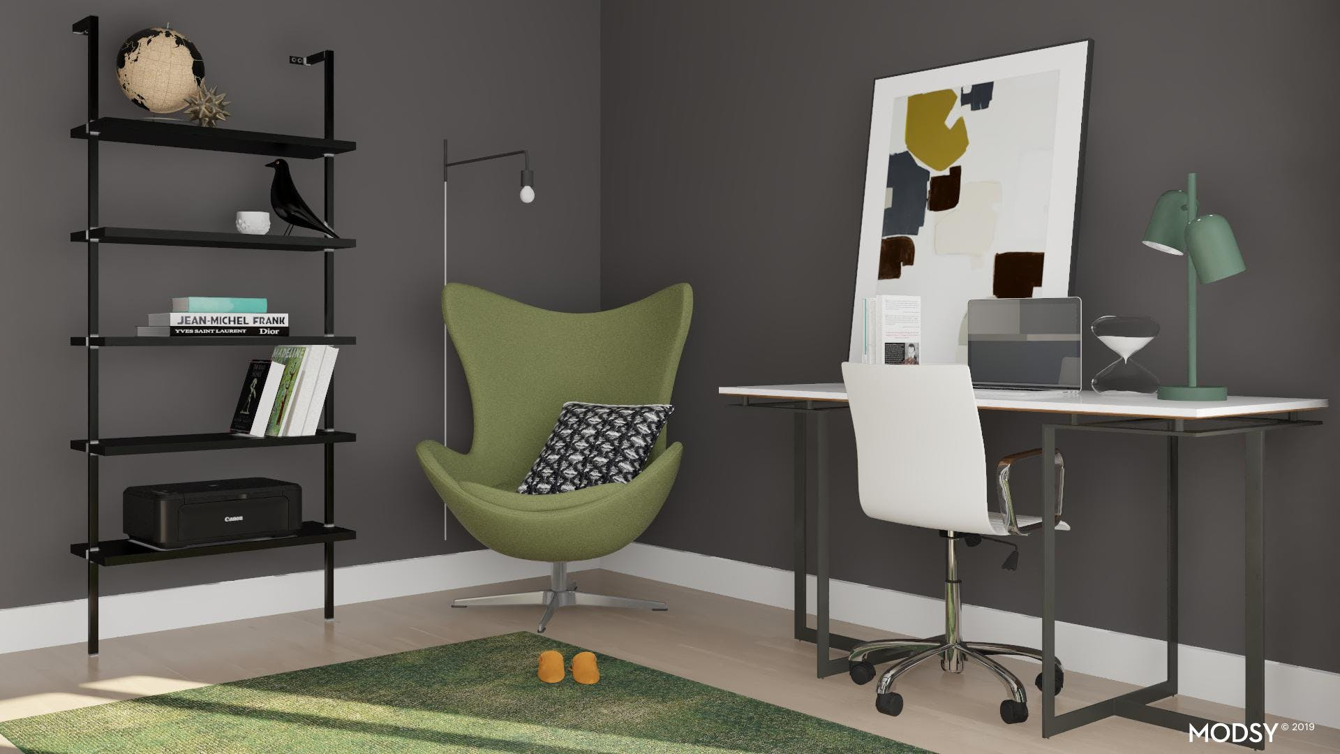 A Cozy Modern Home Office
