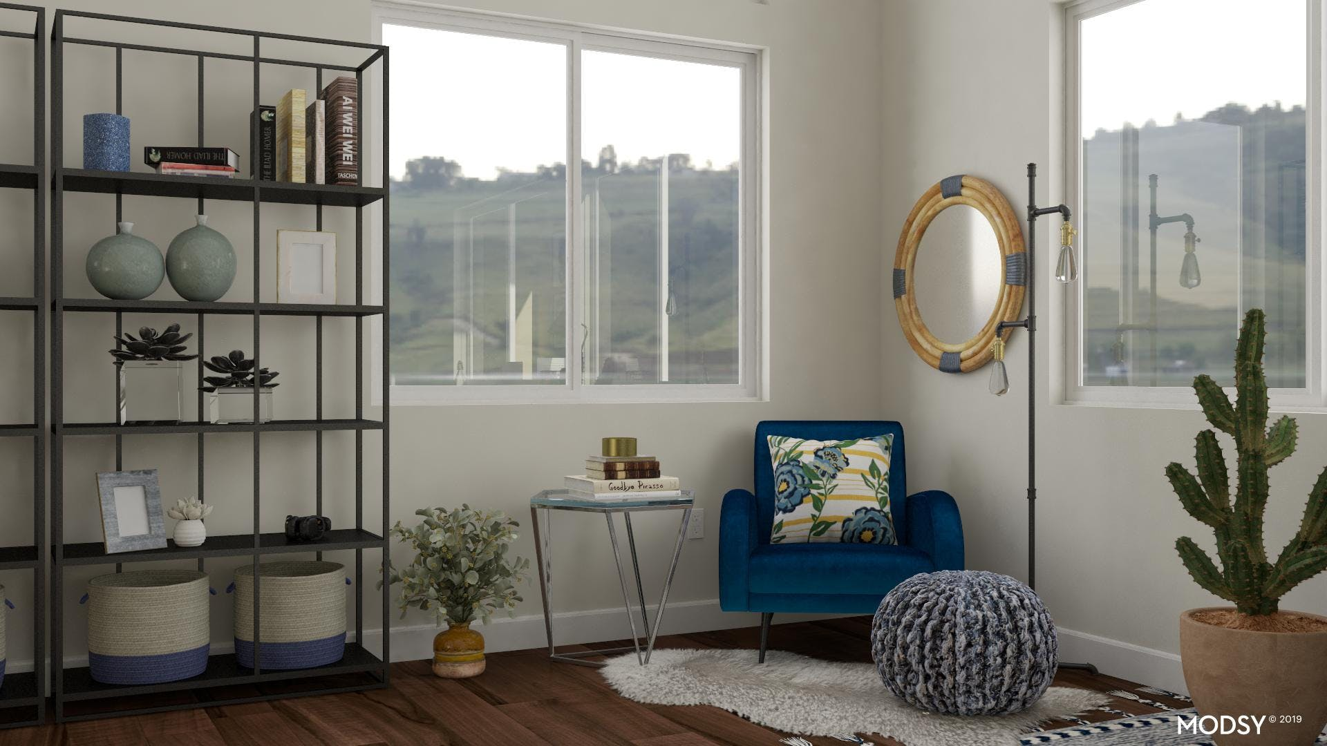 Industrial Home Office: A Reading Nook