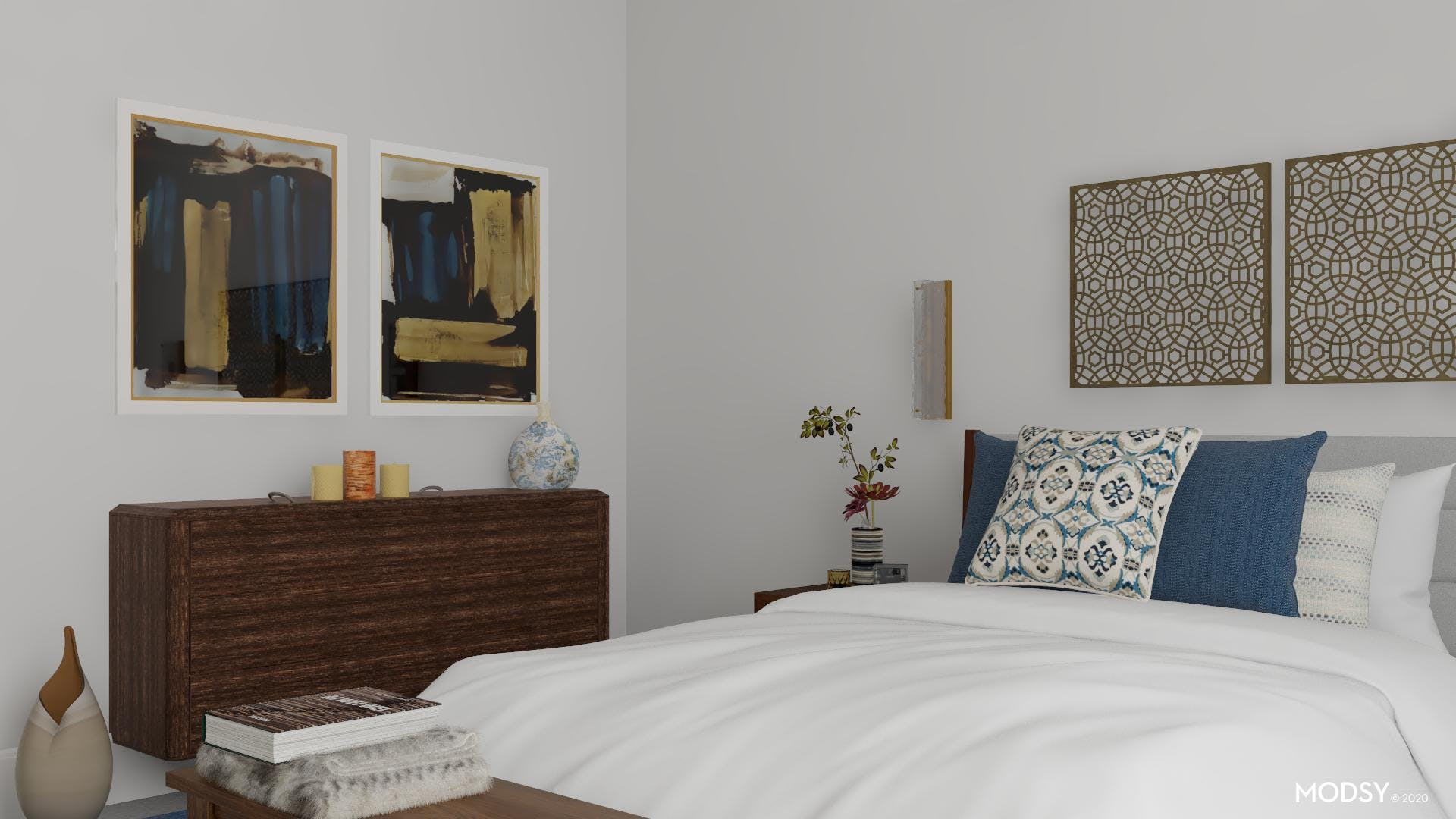 Bold Strokes: Eclectic Bedroom