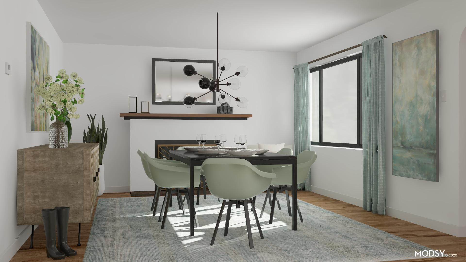 Dining In Contemporary Pastels