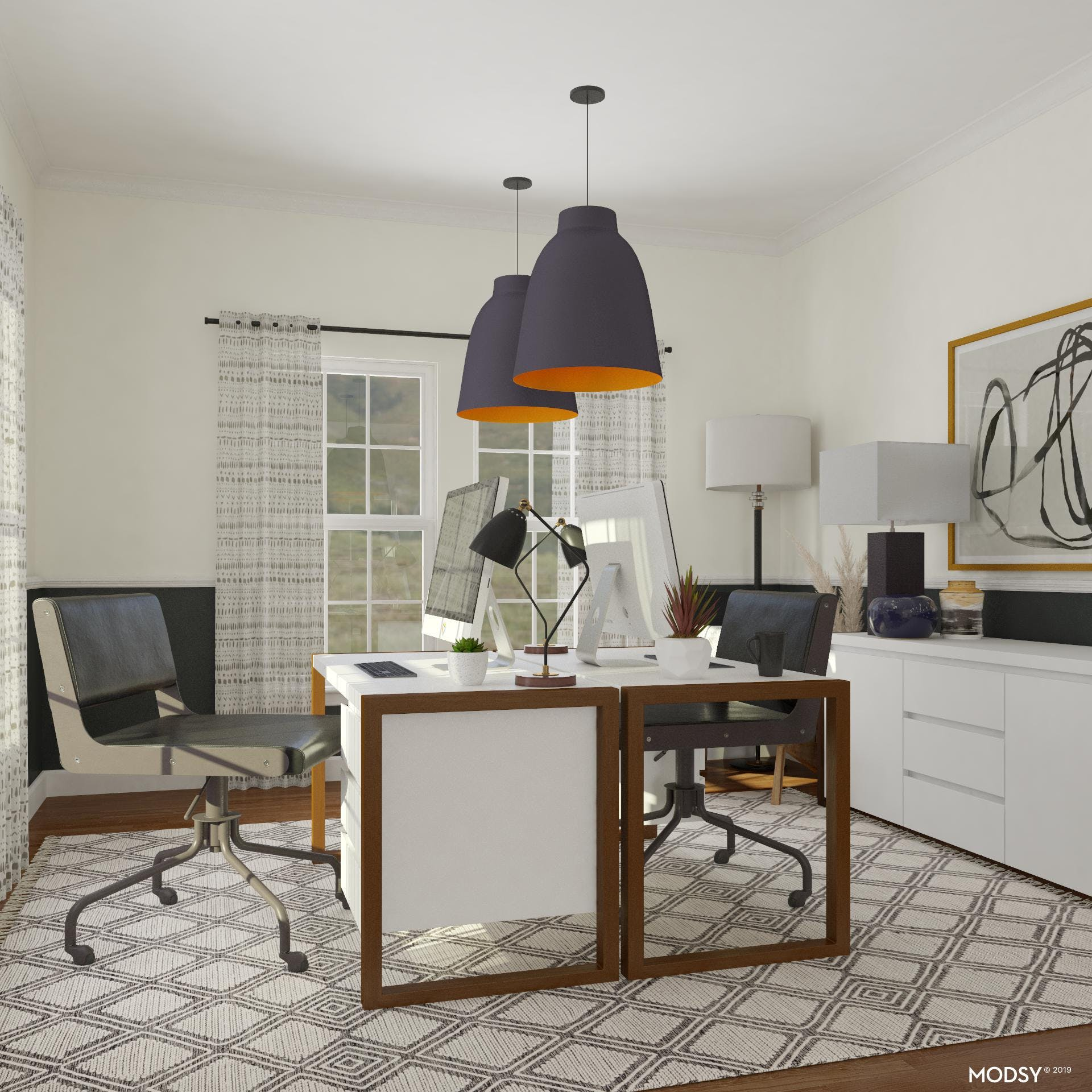Monochromatic Bliss: Home Office