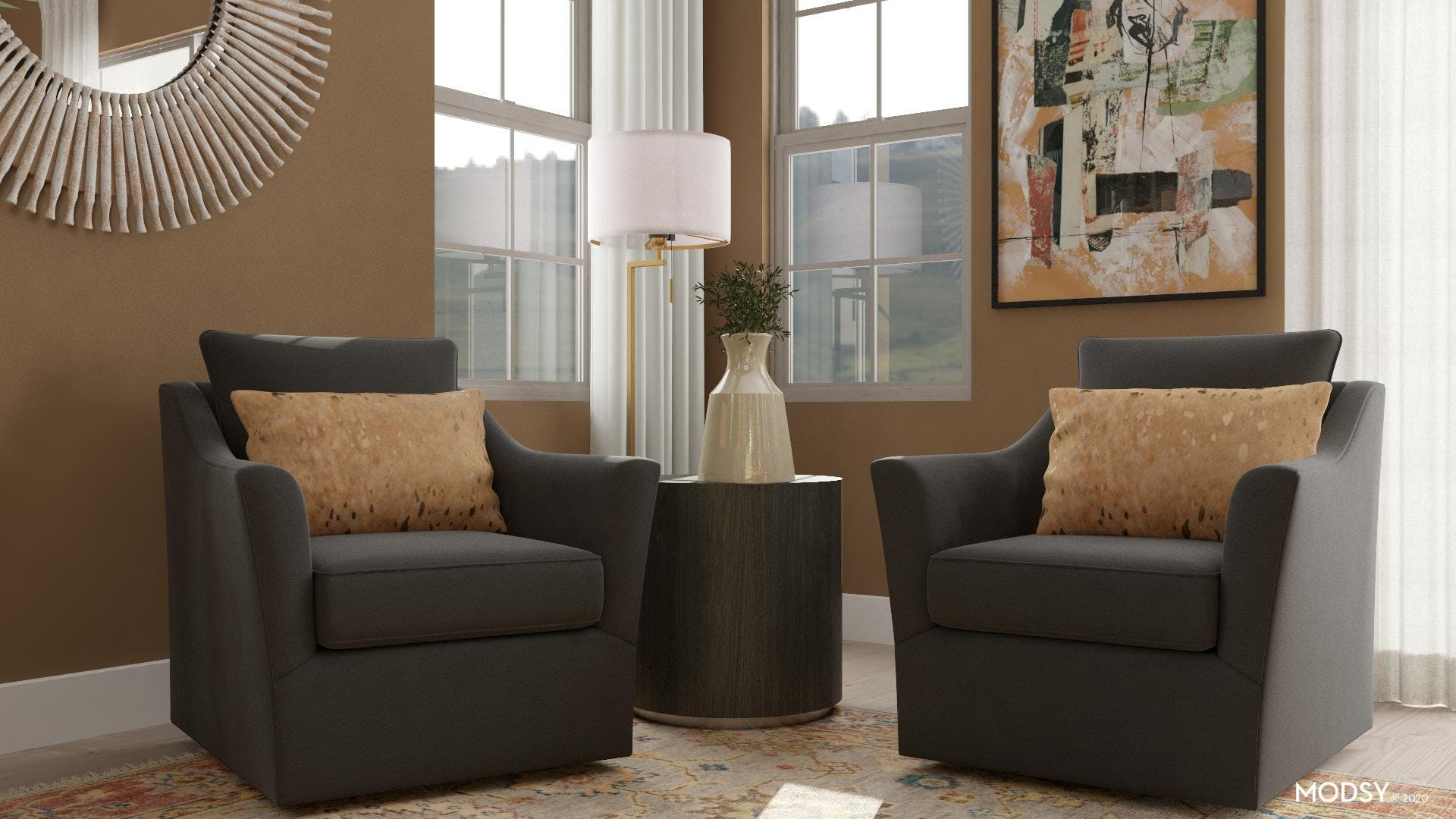 Traditional Seating With Earth Tones