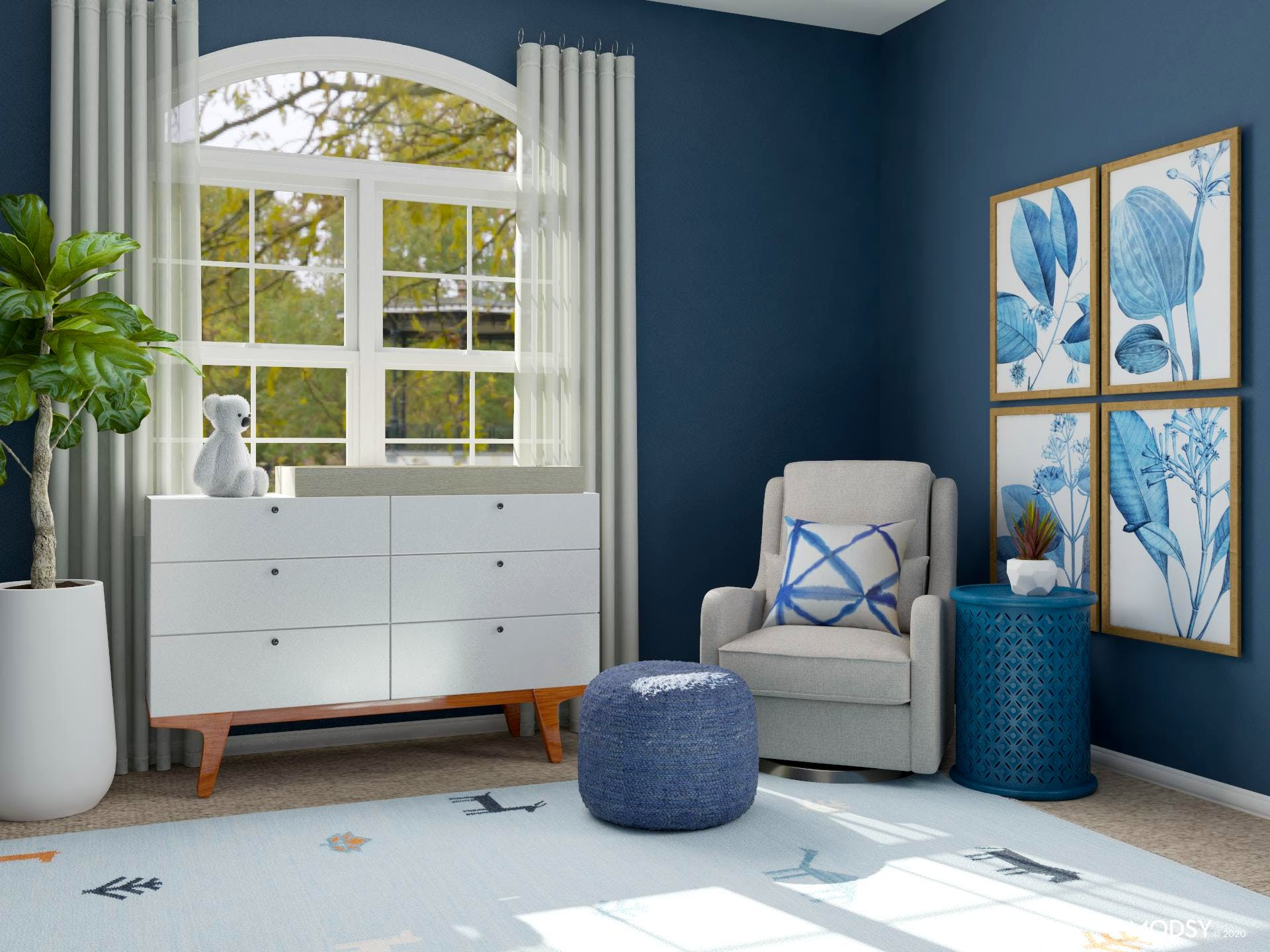 Restful Blue Oasis Nursery