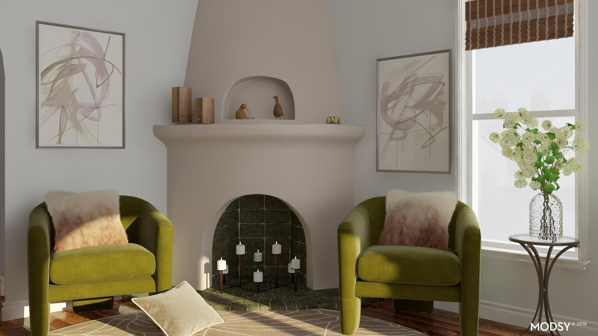 Fun and Sophisticated Eclectic Living Room