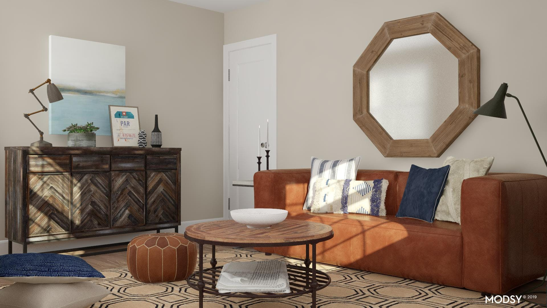 Modern Shapes Meet Rustic Finishes