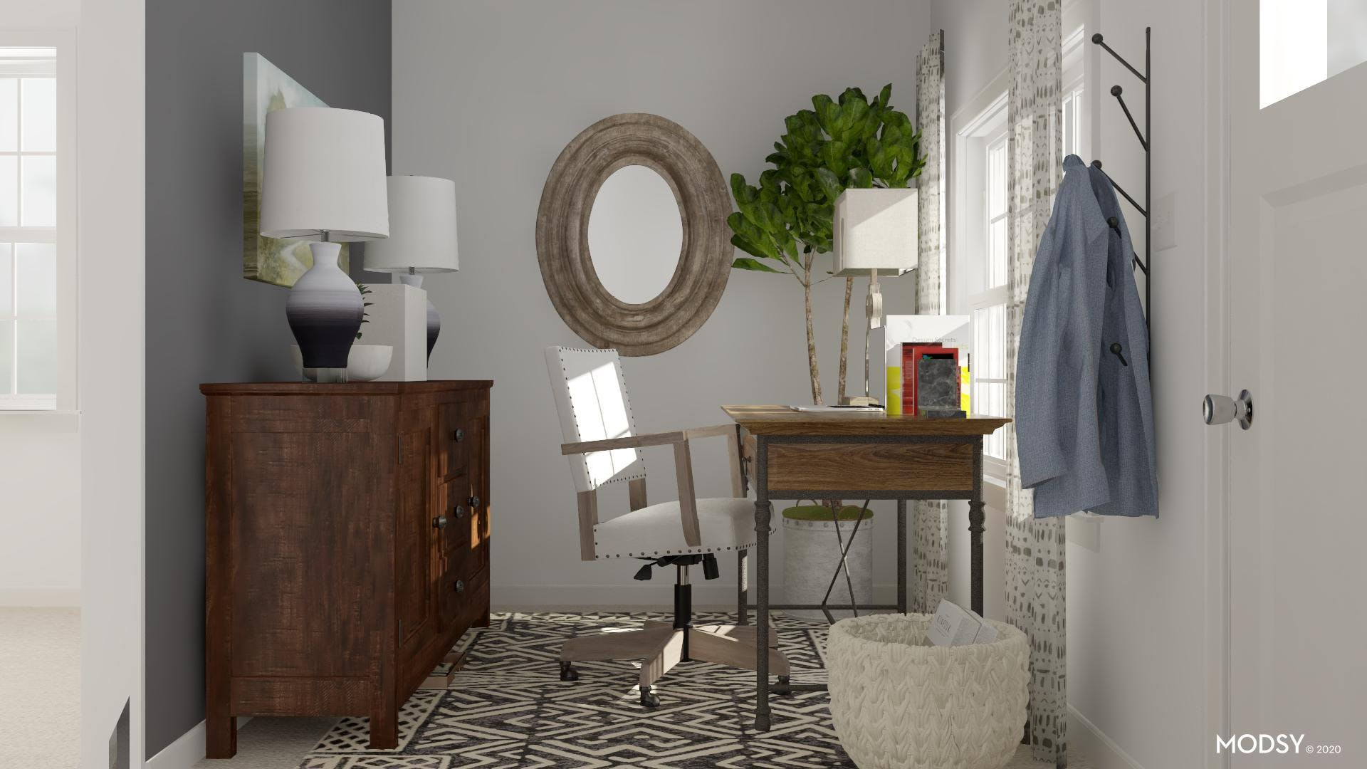 Black & White Rug: Small Space