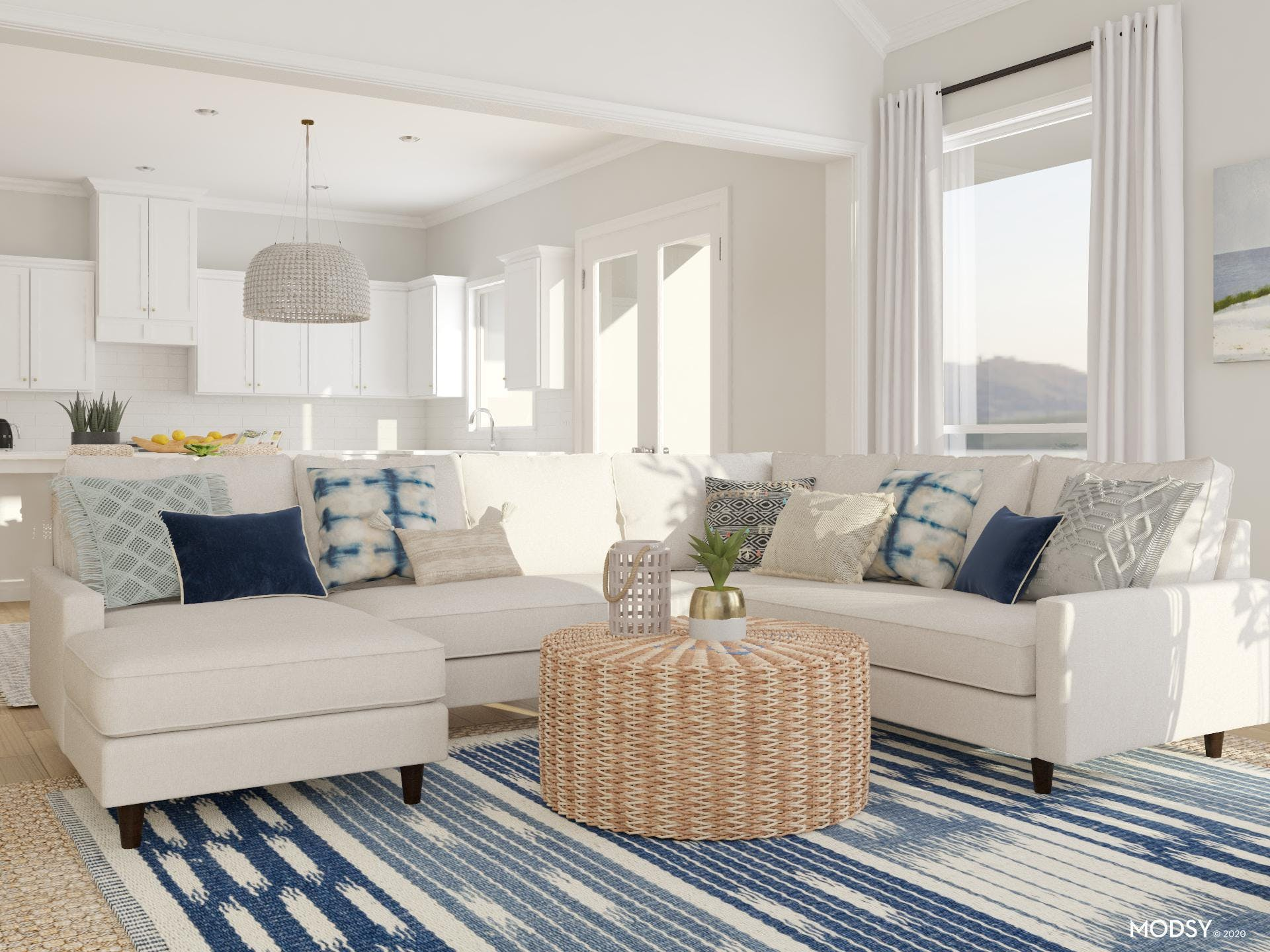Sensational Sectional Awash in Watery Hues