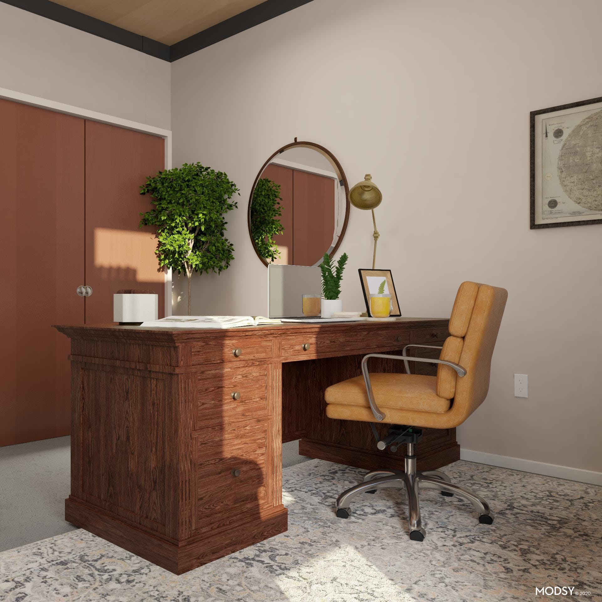 Classically Styled Traditional Office