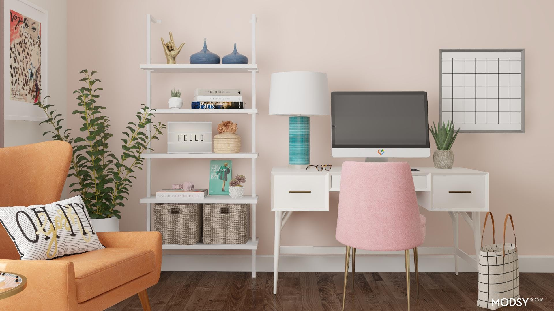 Inspiring And Colorful Mid-Century Office