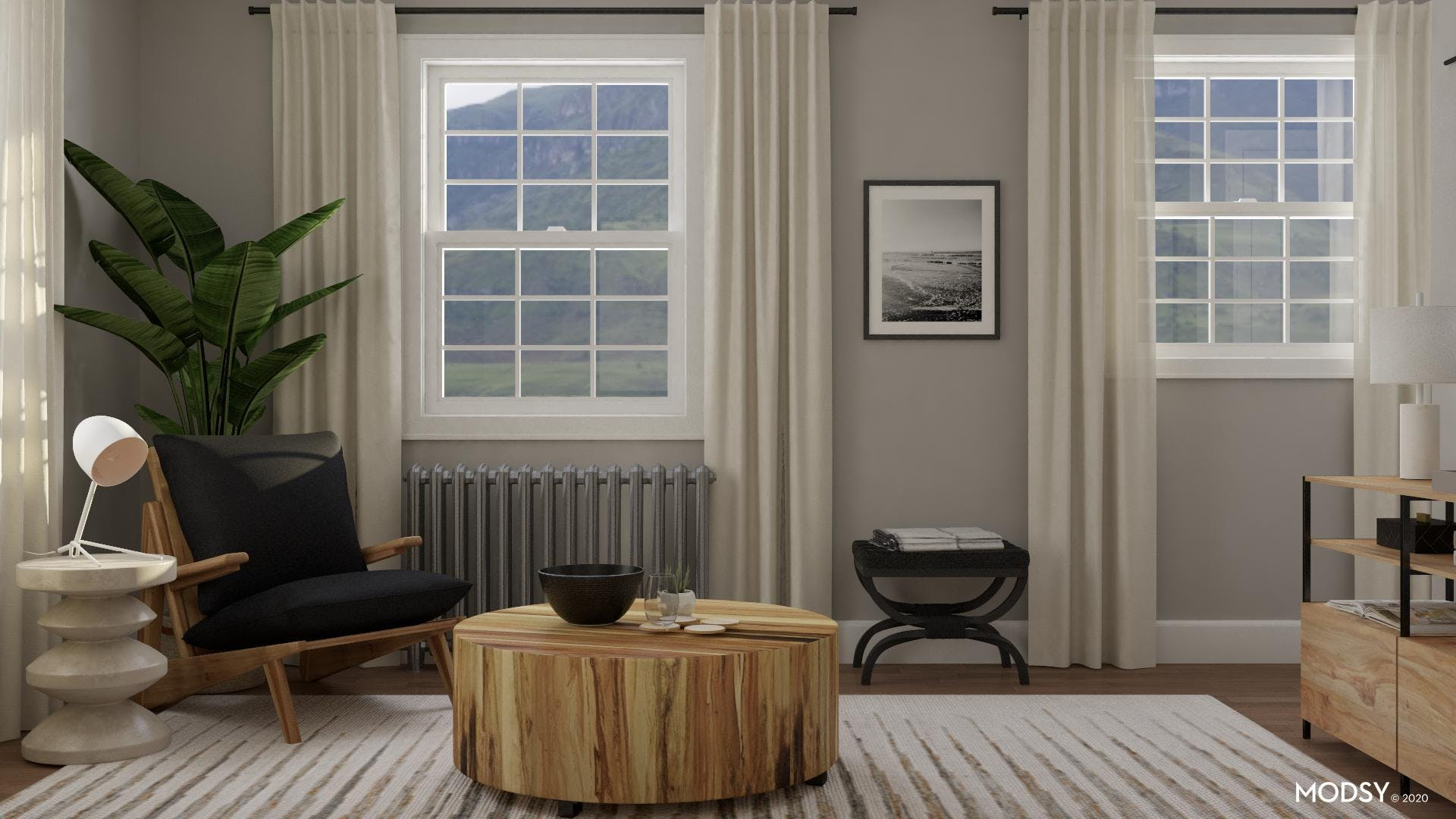 Living Room With Contrast
