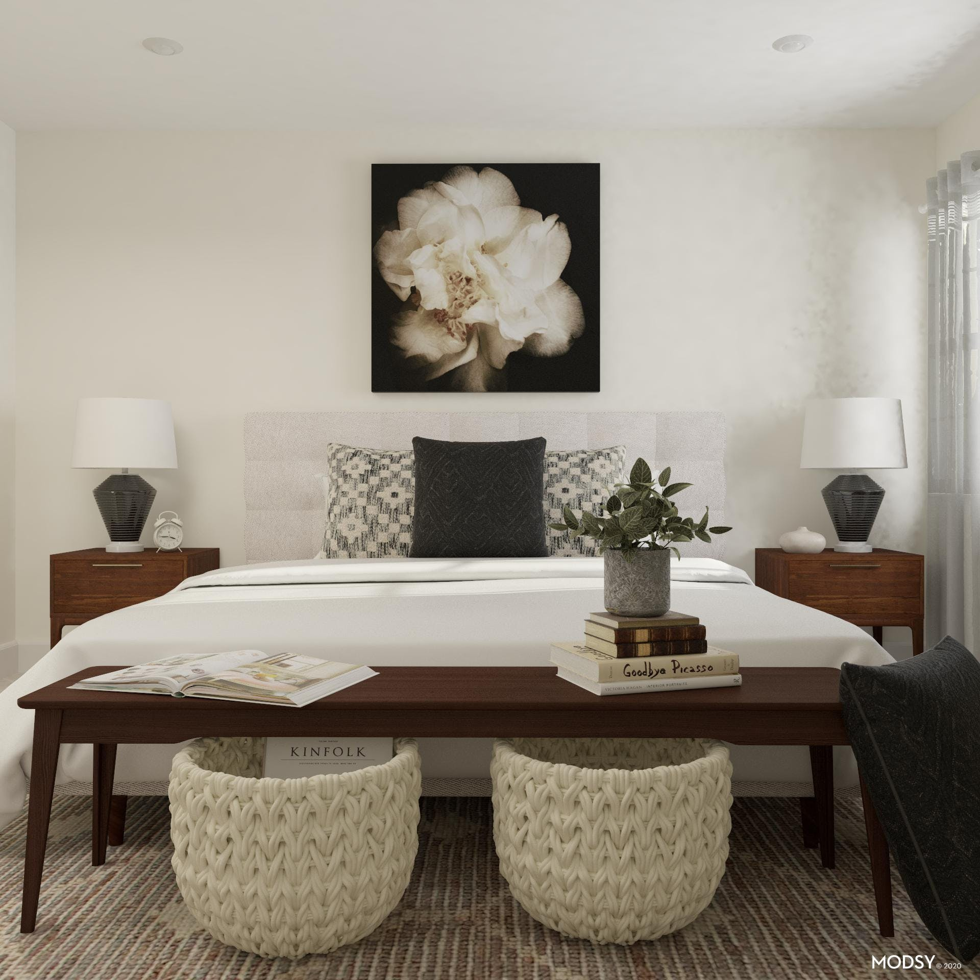 Dimension and Storage in Transitional Bedroom