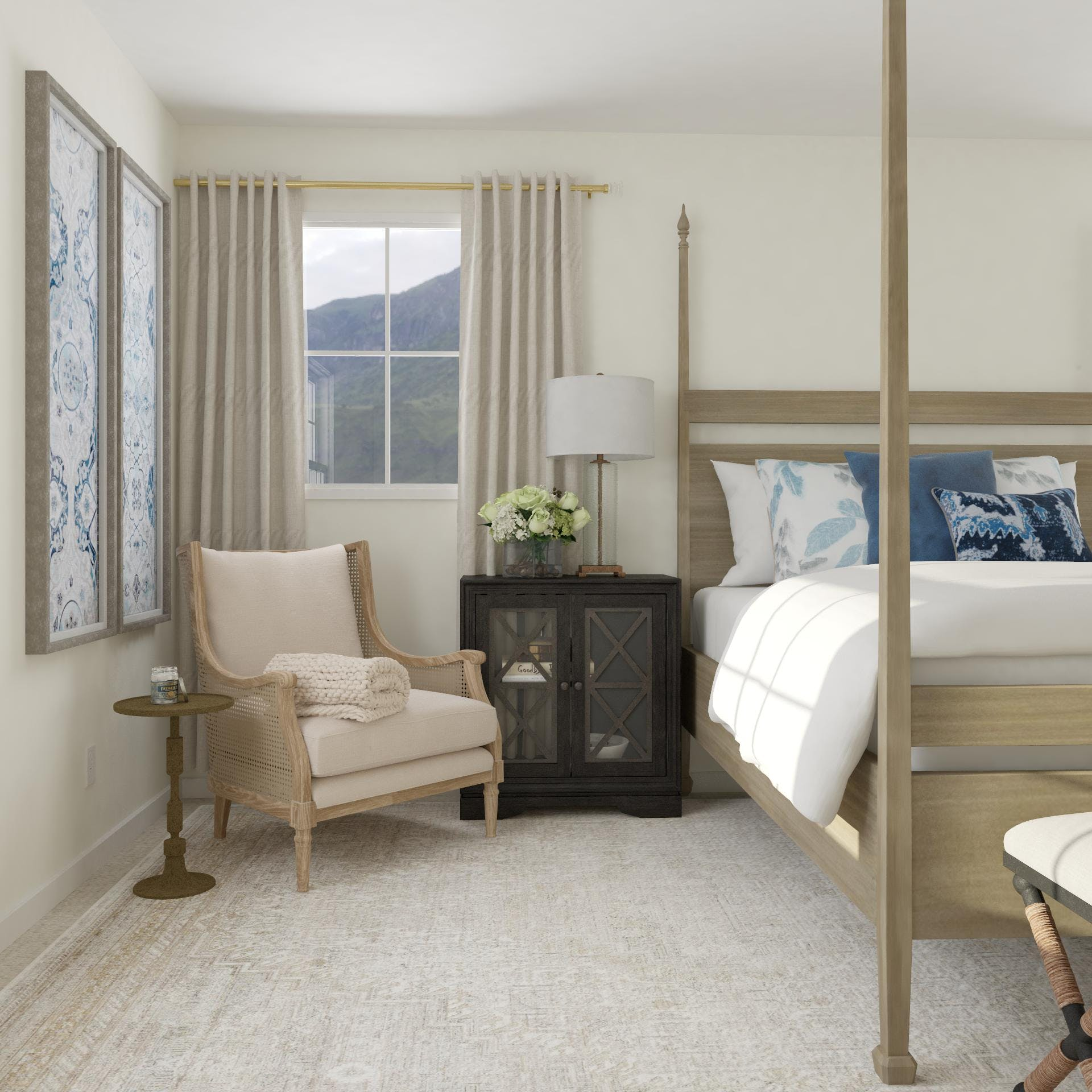 Traditional Bedroom Seating