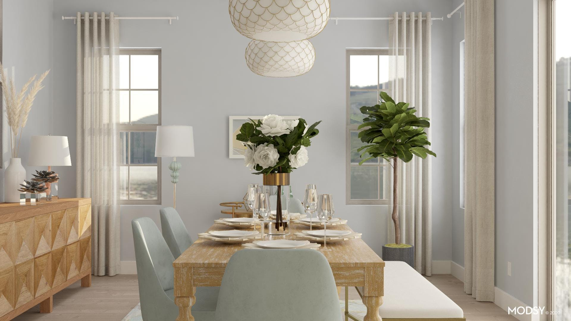 Cool Tones And Coastal: Dining Room Design