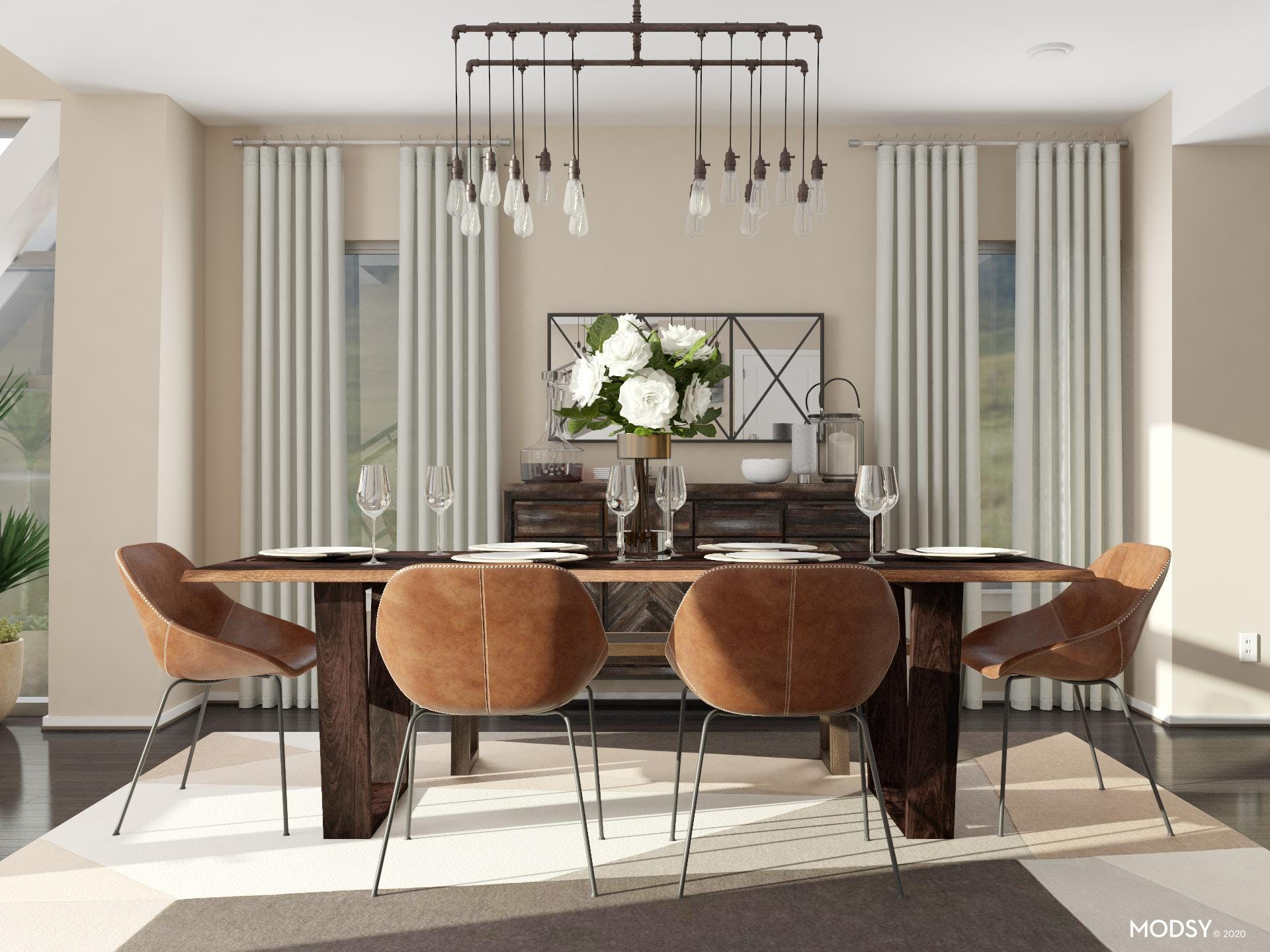 Industrial Style: Dining Room