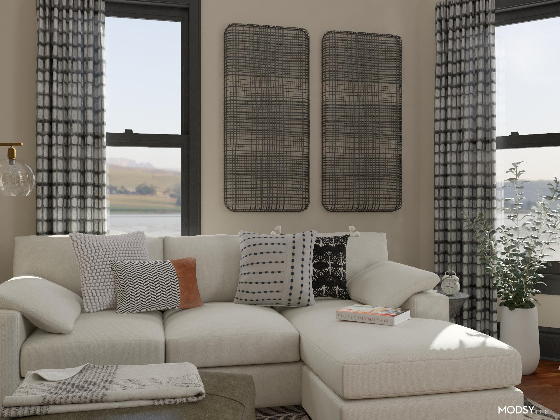 Mixing Patterns: Rustic Living Room