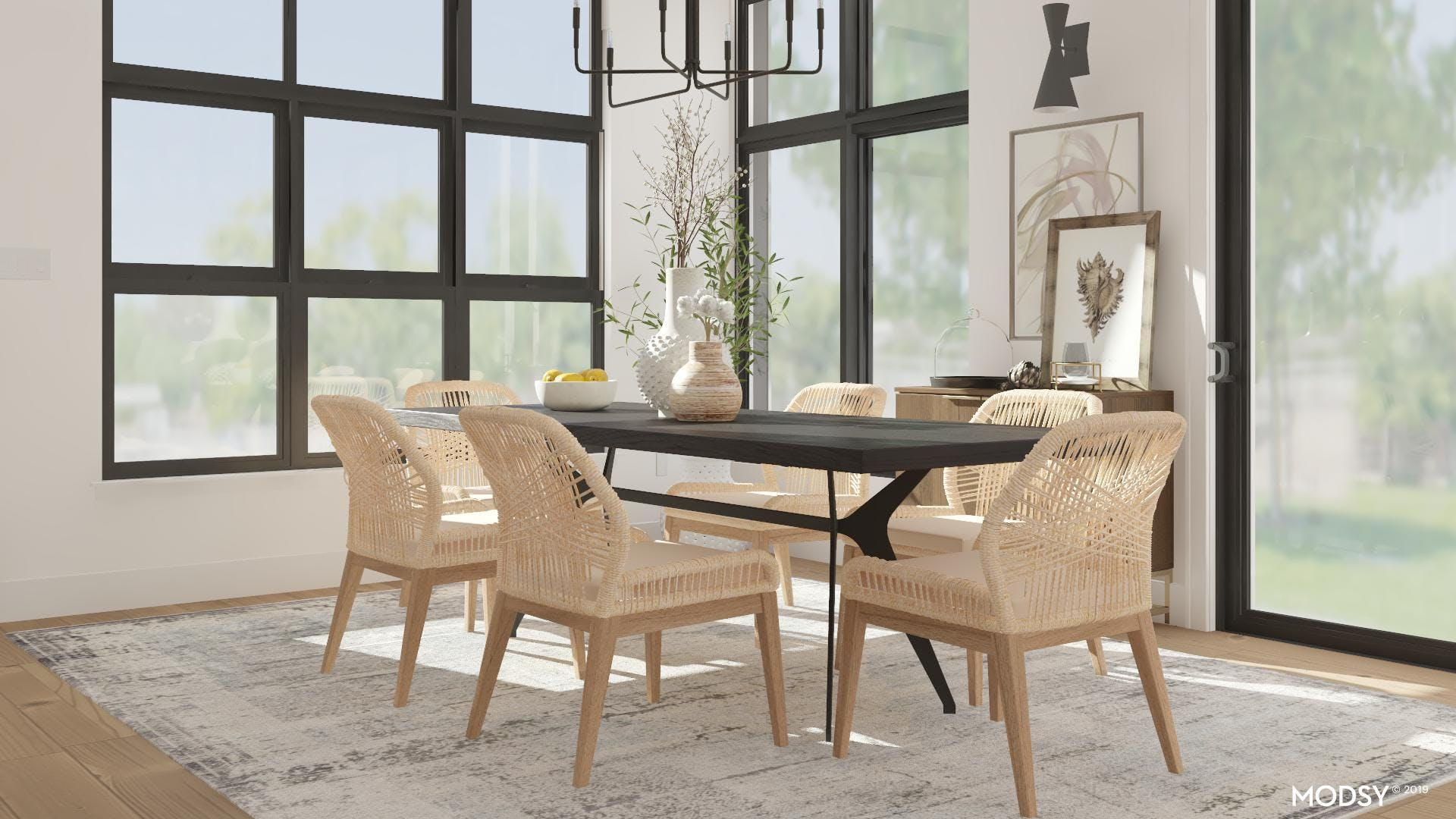 Not Your Mama's Beige Dining Room