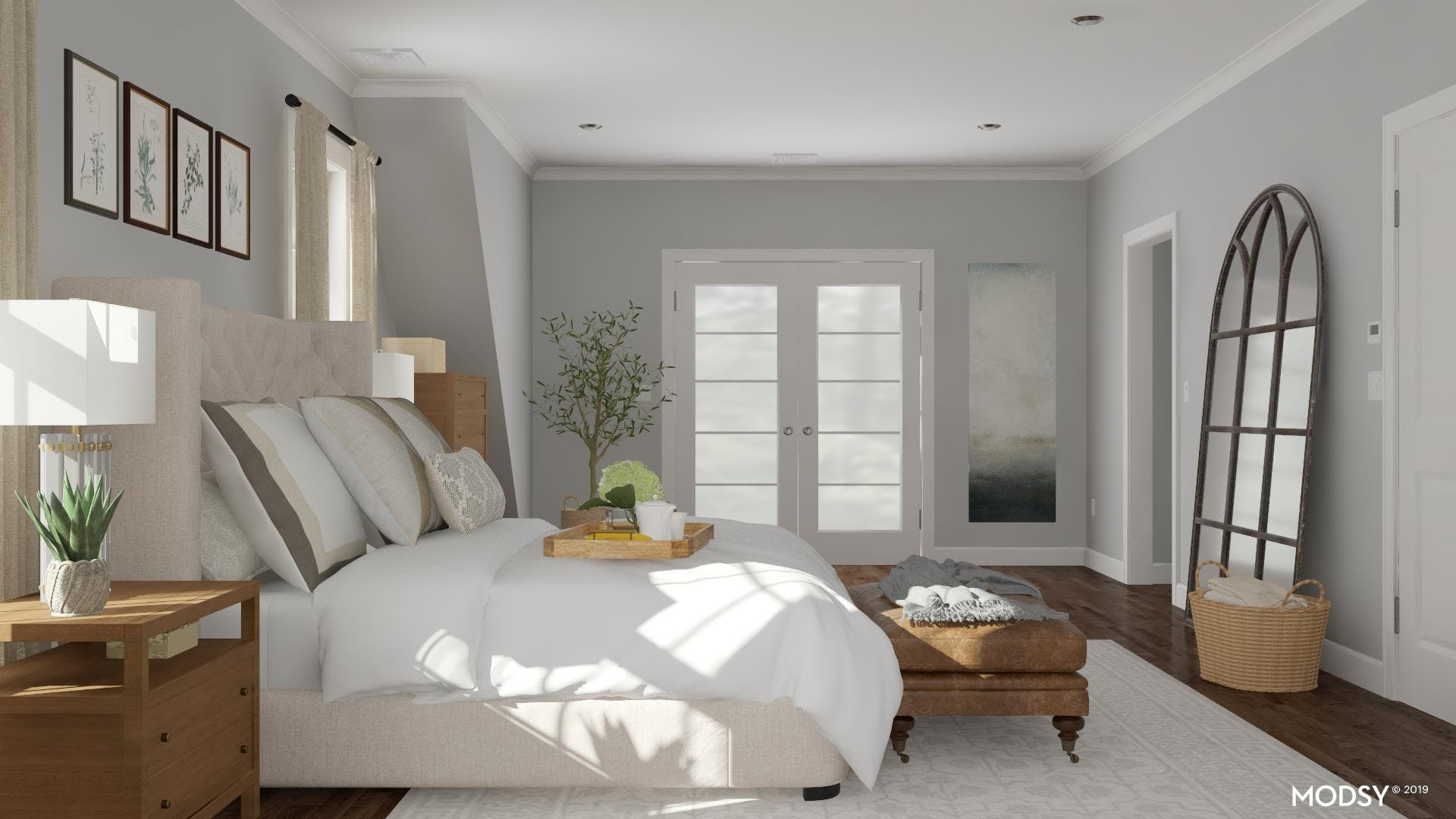 Using Scale in a Transitional Bedroom