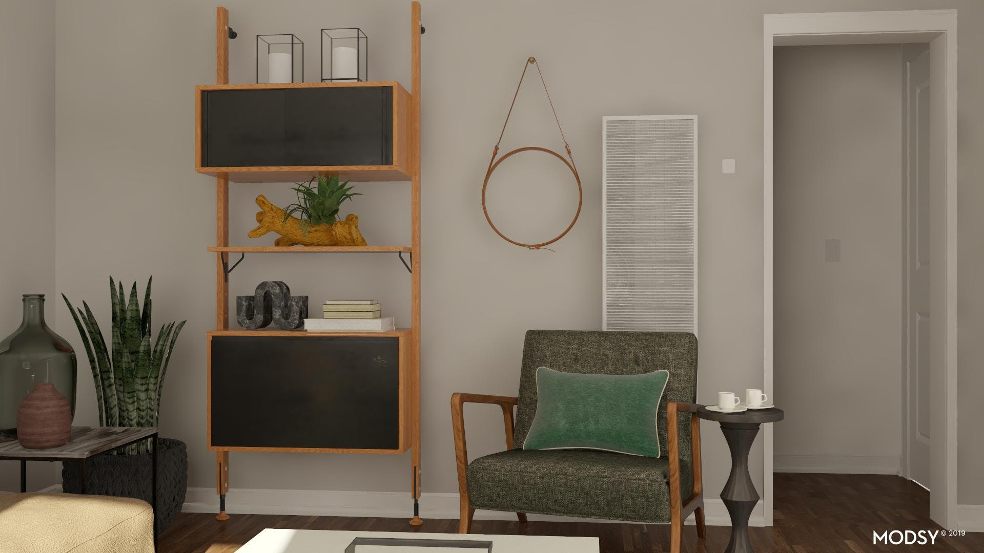 Minimal Design with Open and Closed Storage