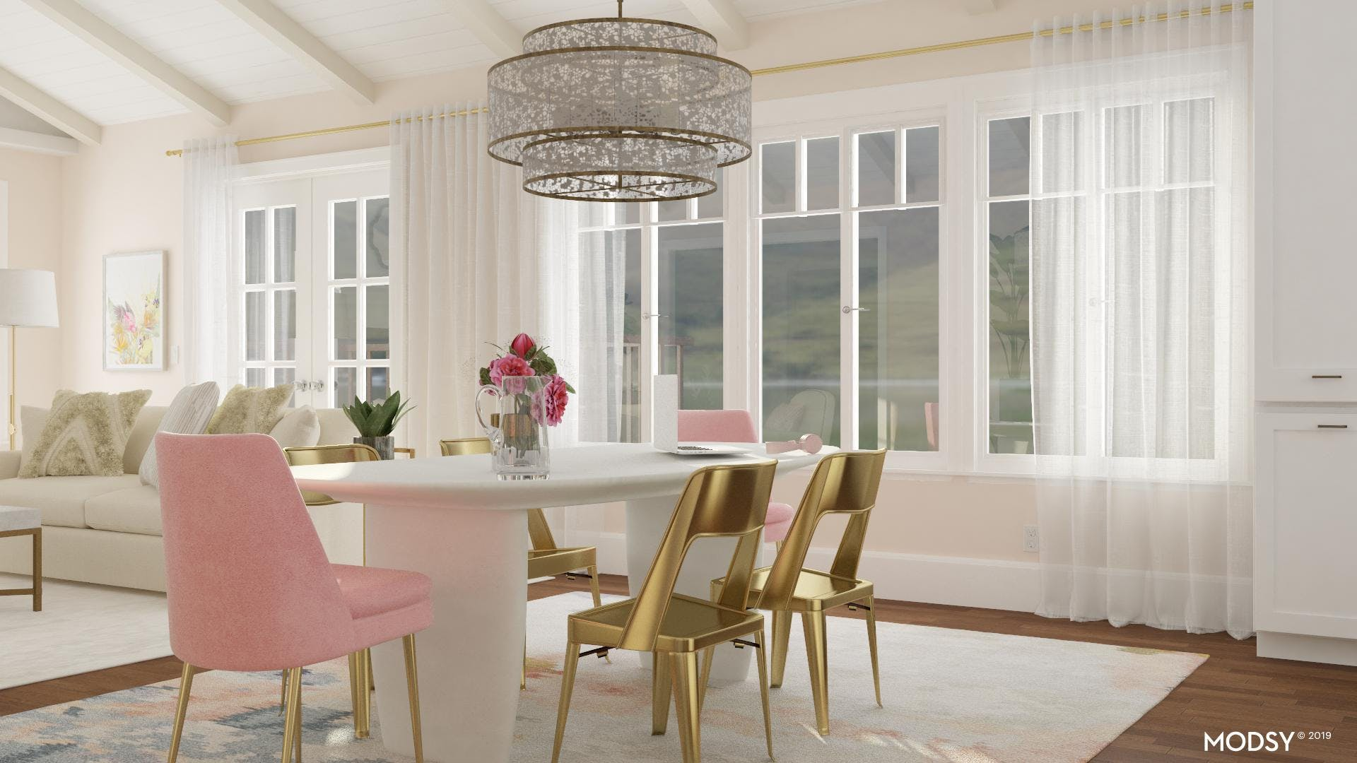 Glam Dining: Soft Sheers