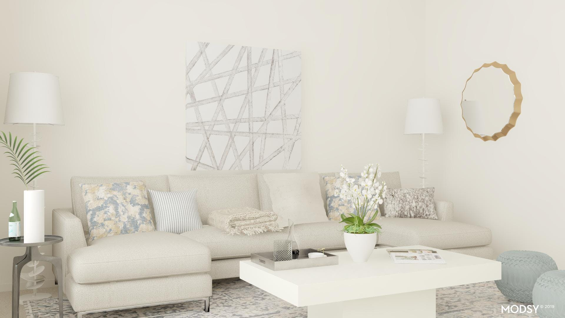 Shades Of Glam: Luxe Living Room
