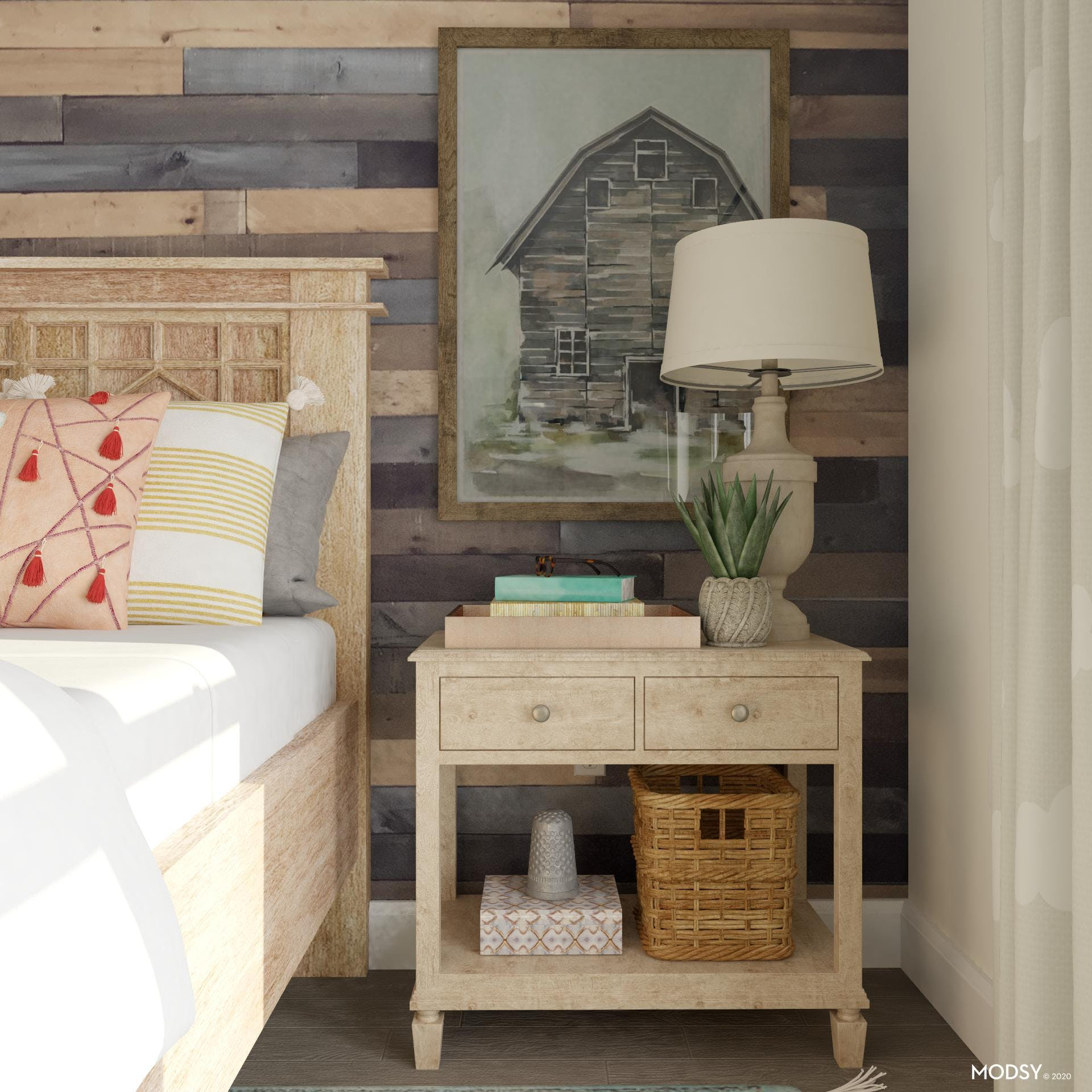 Different Storage Types on a Nightstand