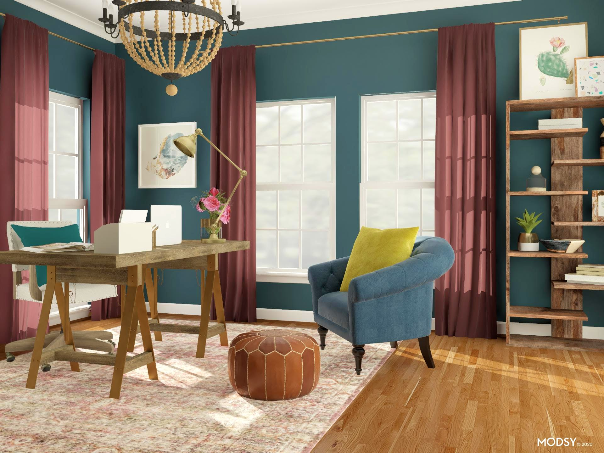 Rustic In Jewel Tones: Home Office
