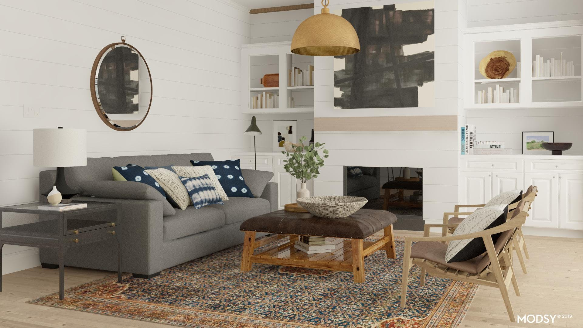 Conversational Rustic Living Room