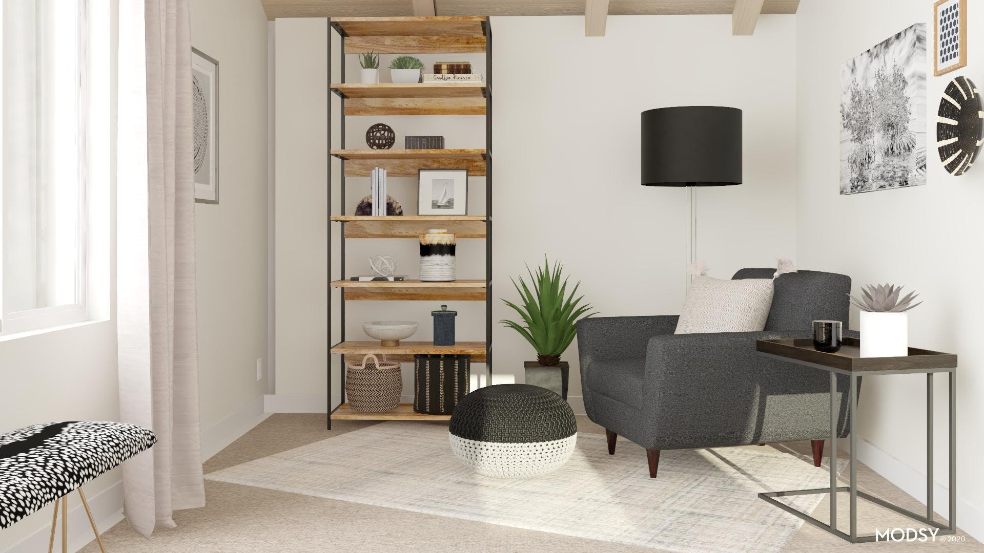 A Kid-Friendly Contrasted Office