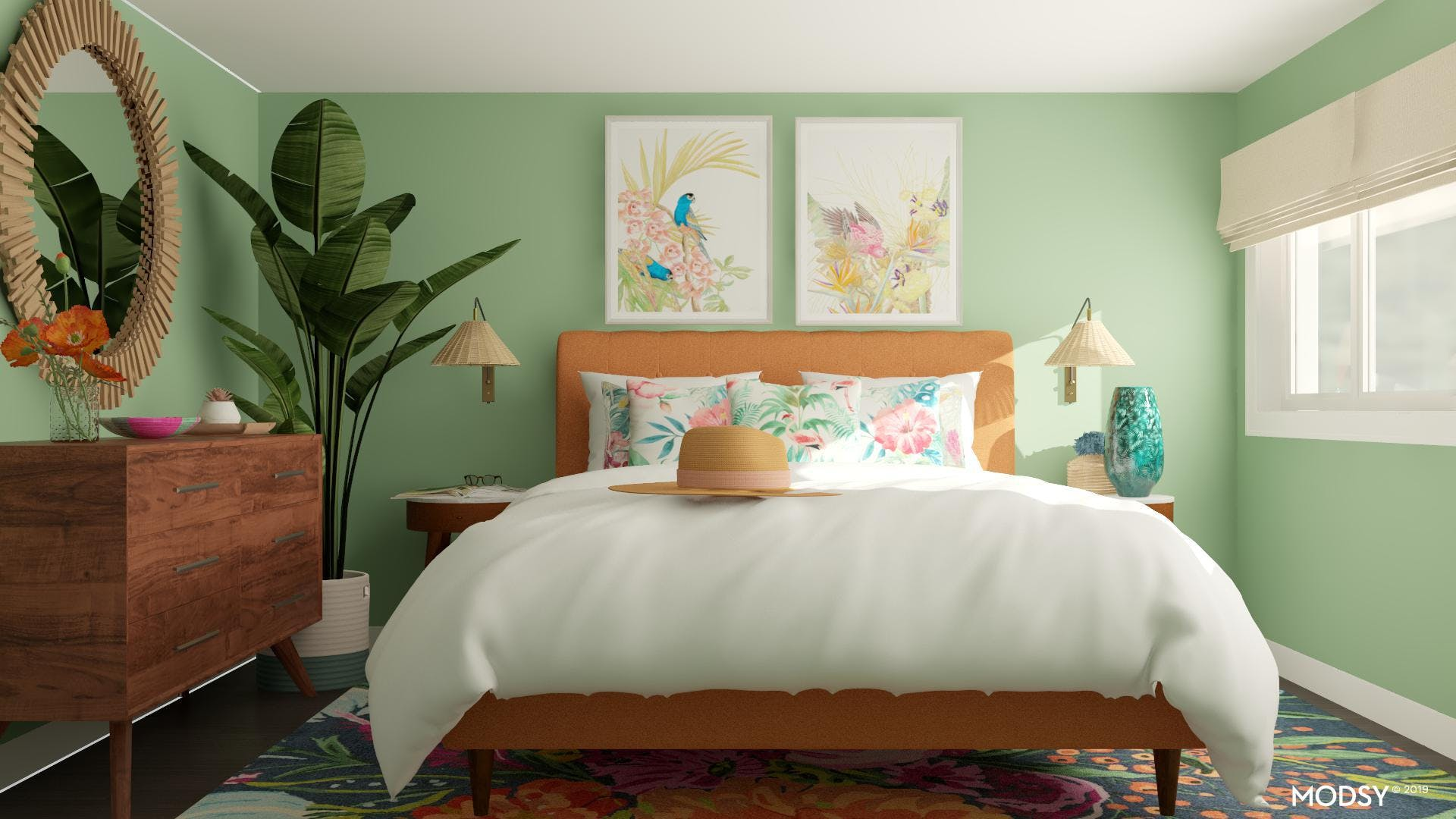 Tropical Jungalow Bedroom
