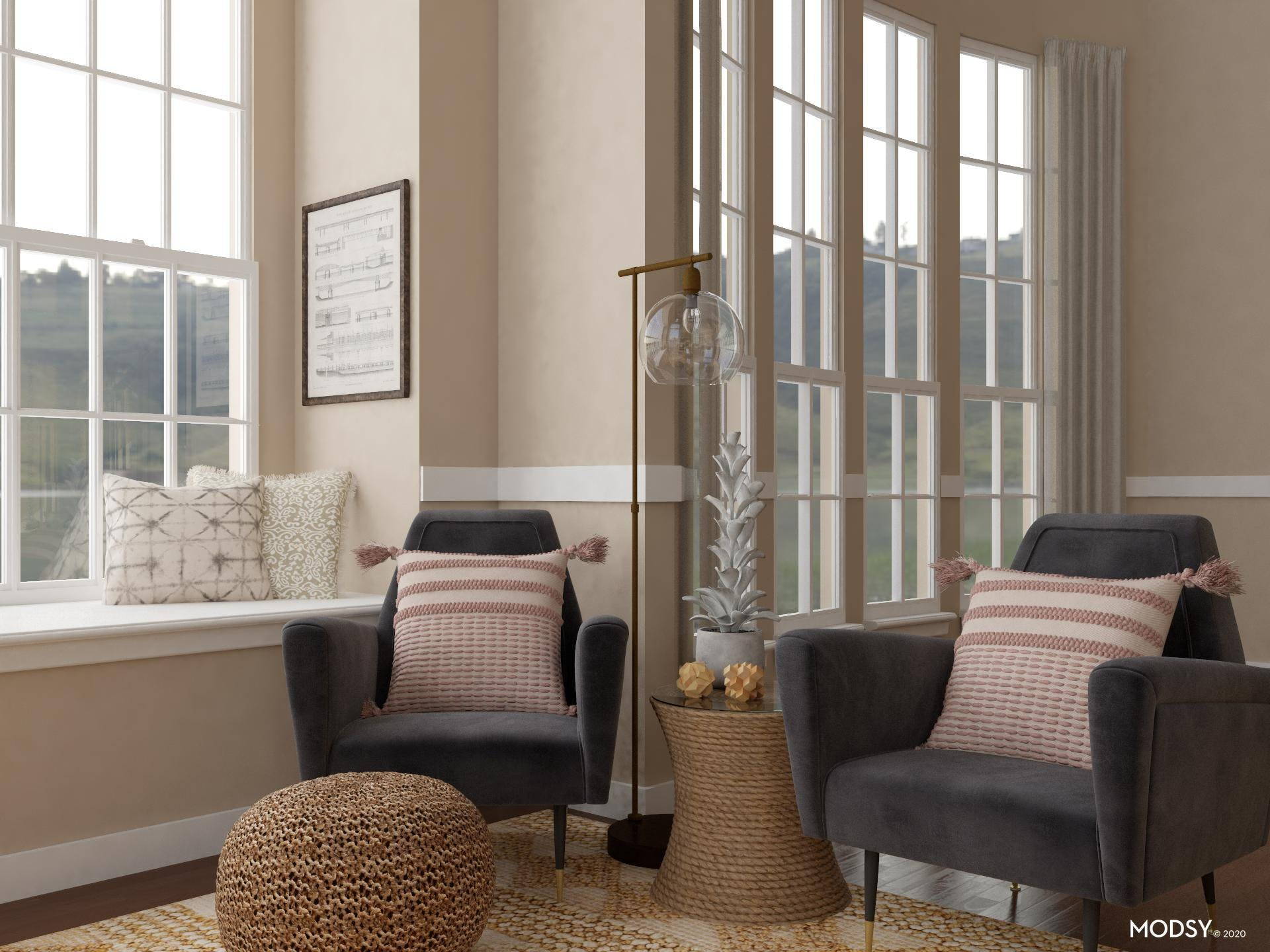 Rustic Charm With Woven Textures