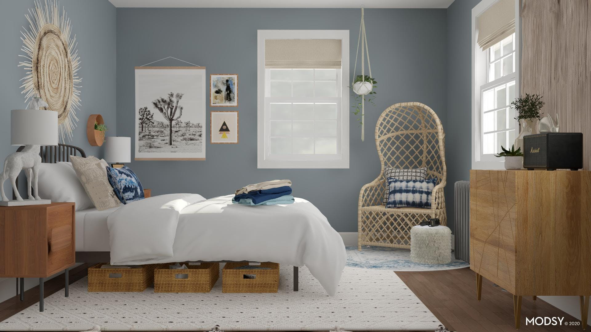 Beautiful and Balanced Eclectic Bedroom