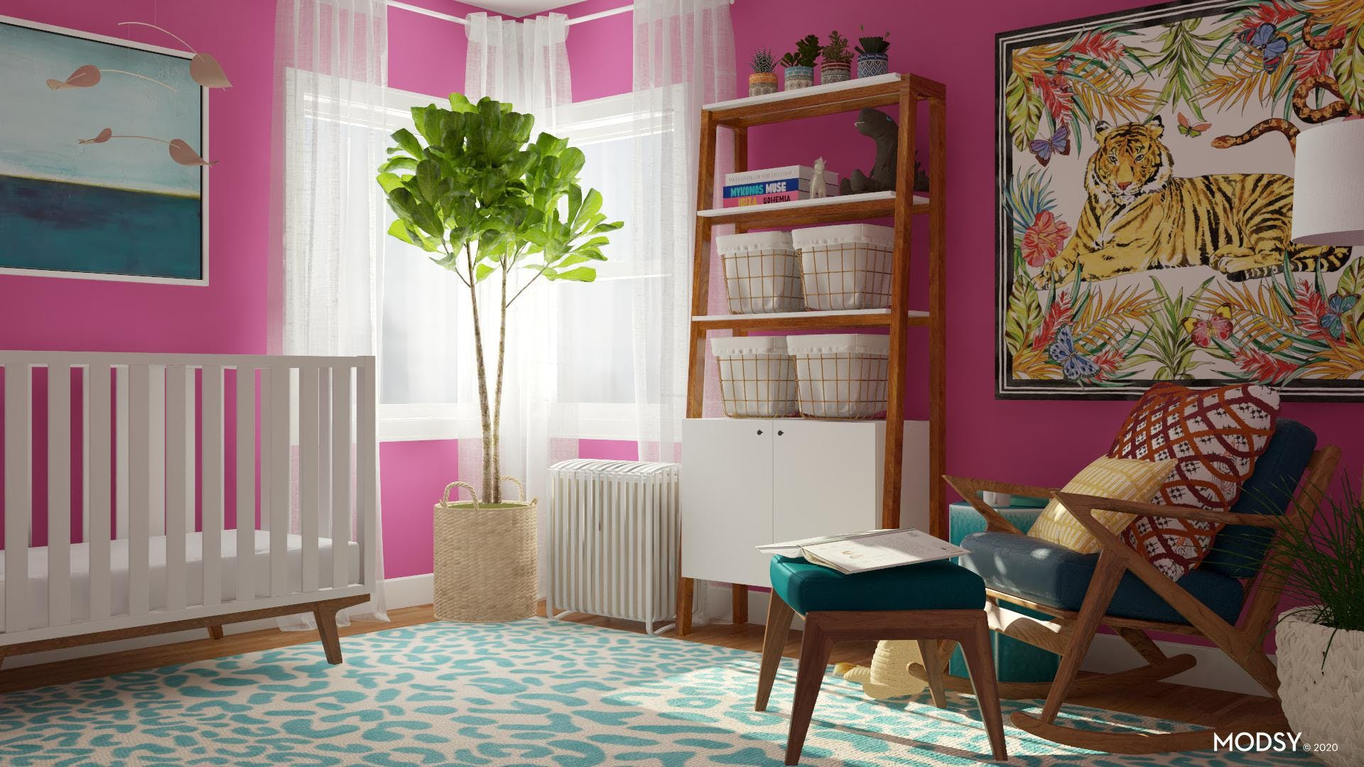 Prints and Greenery for Home Office Decor