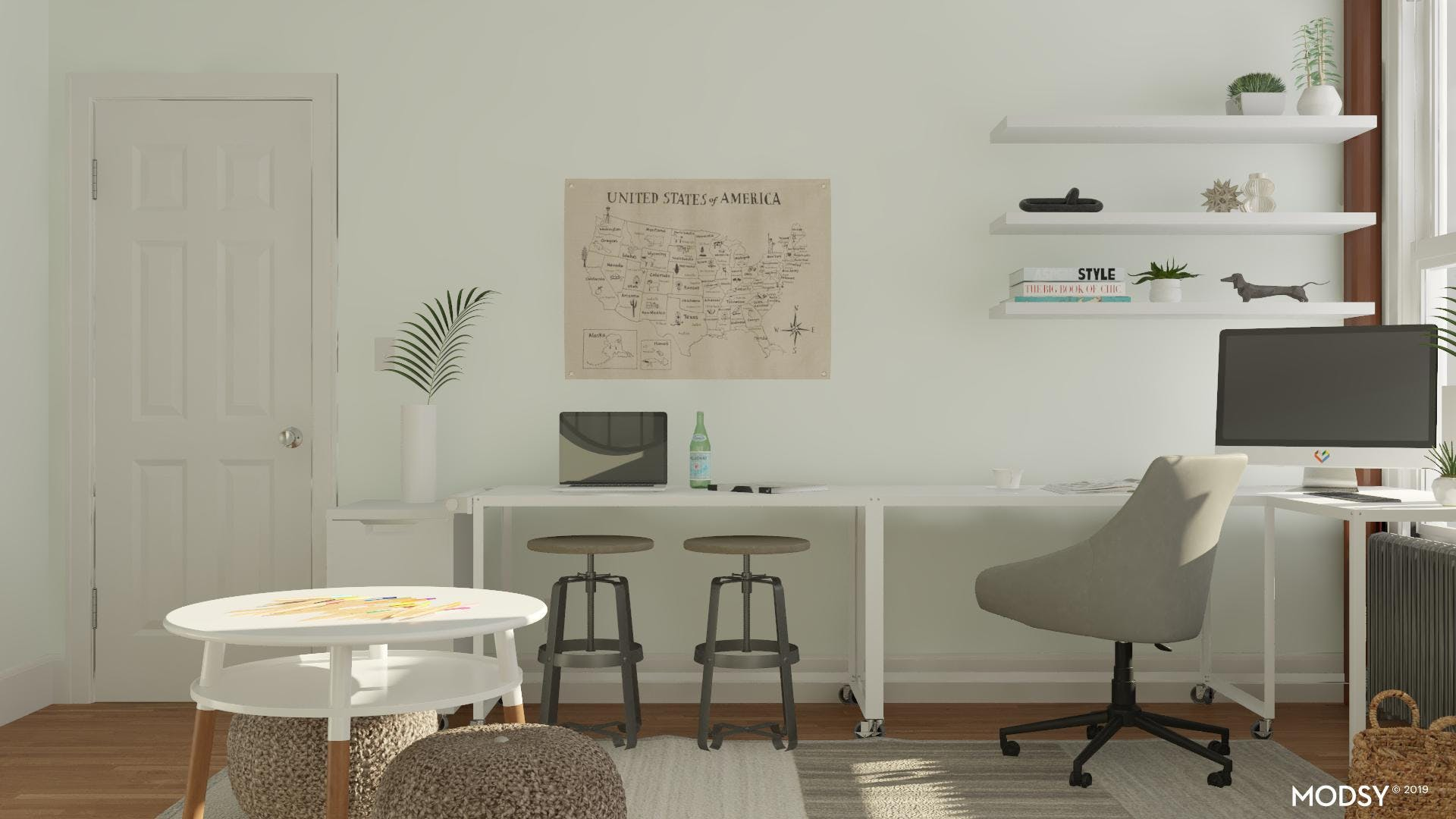 A Family Centered Home Office