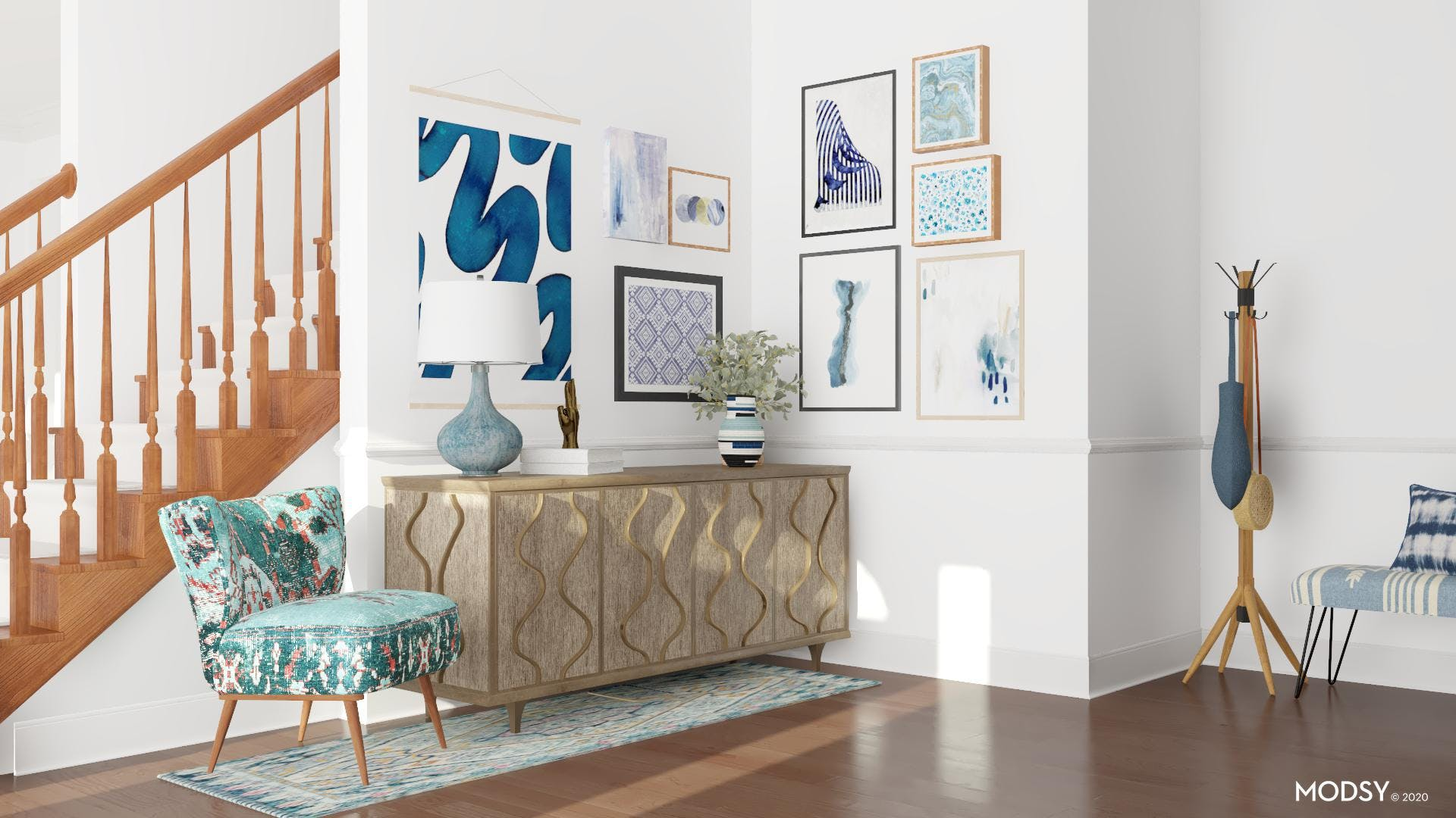 Bold, Blue, And Eclectic