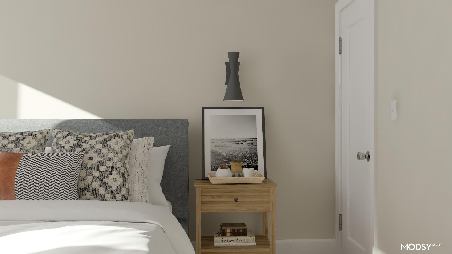 Neutral Accents For A Mid Century Bedroom