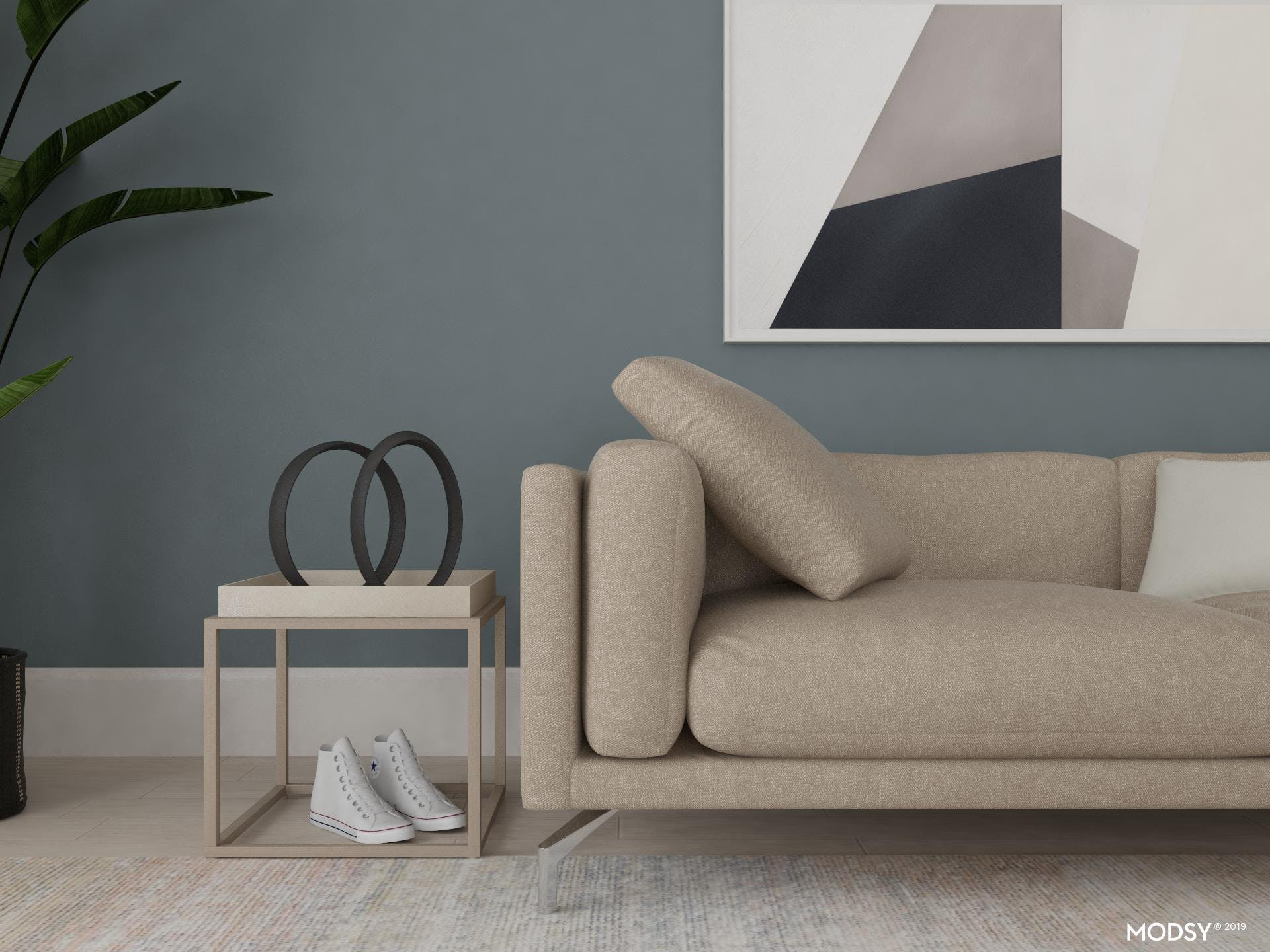 Minimal Living Room With Clean Lines