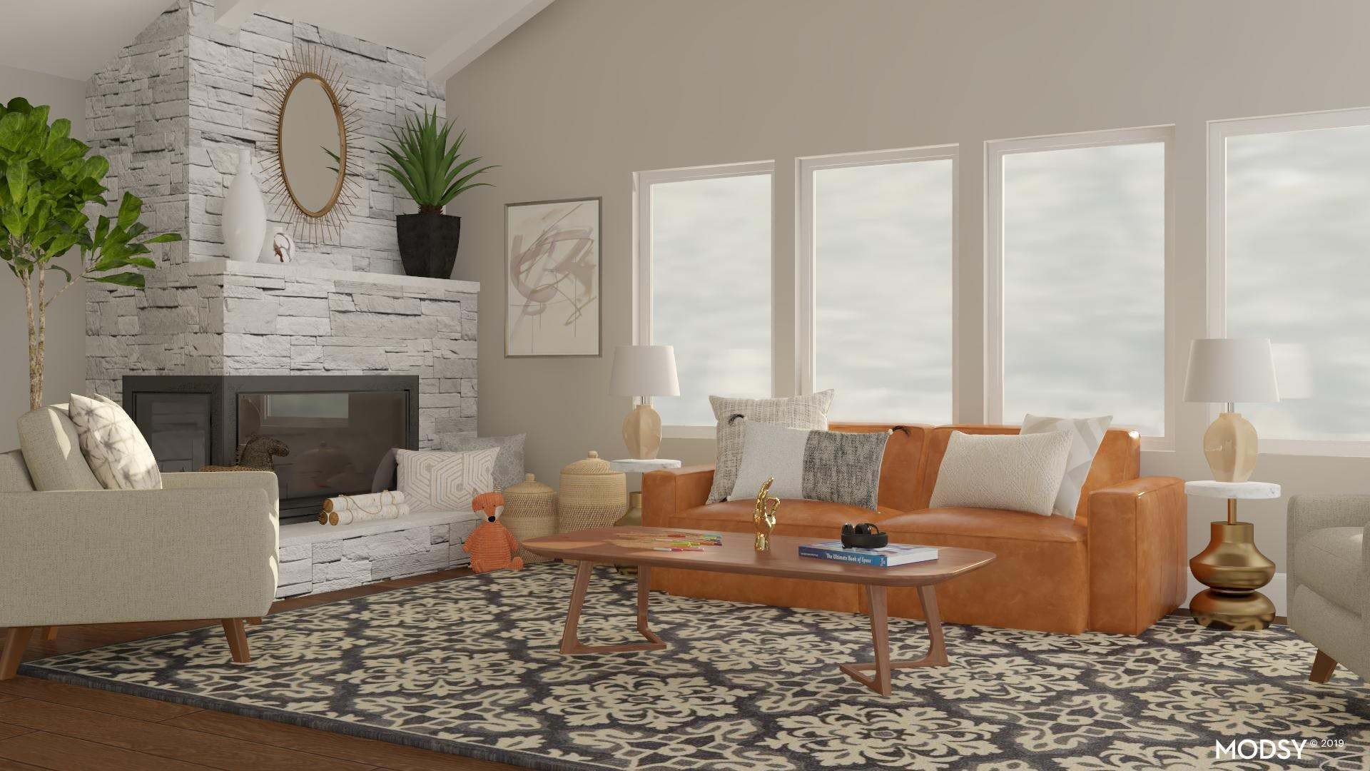 A Charming, Casual Living Room