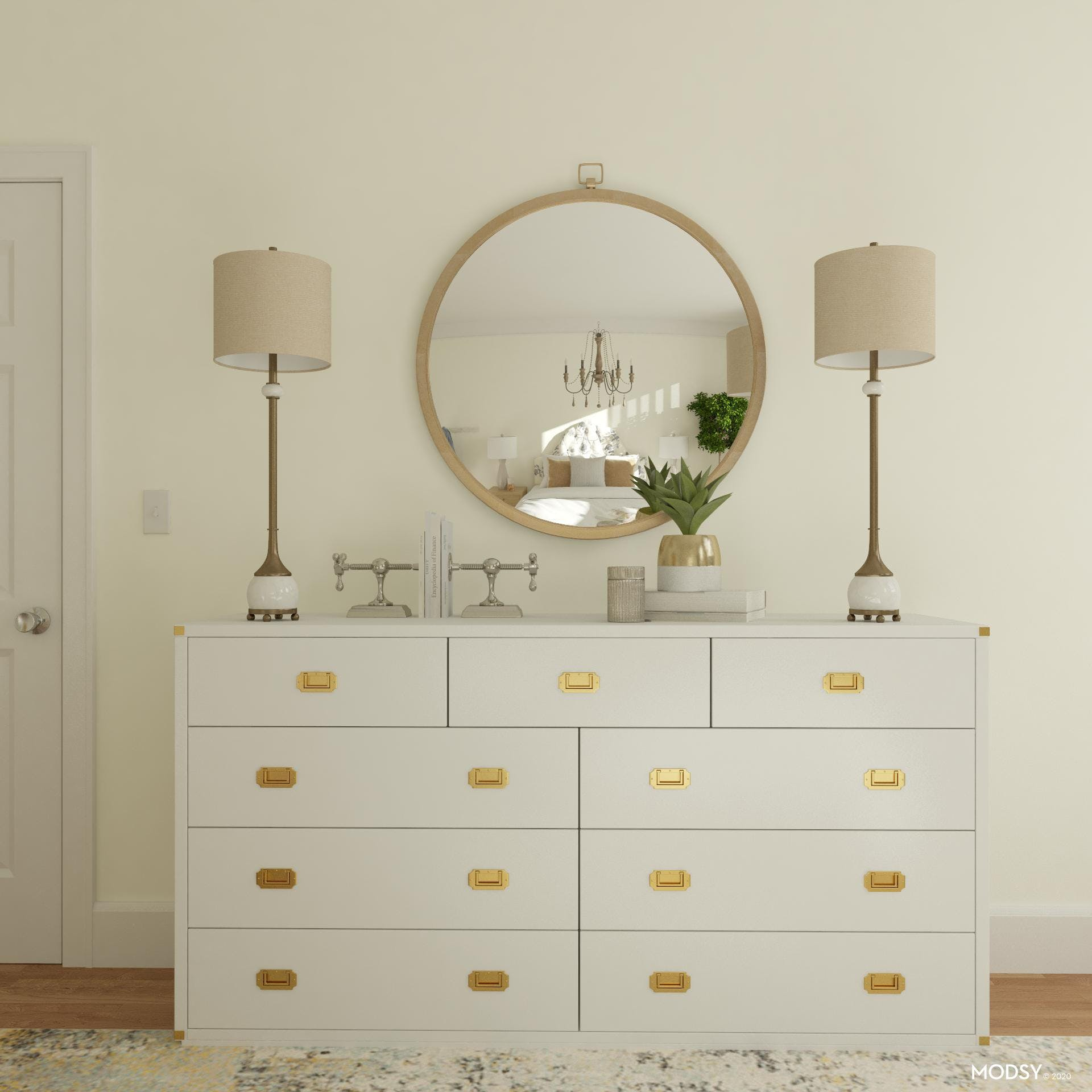 A Stately Dresser Styled Just Right