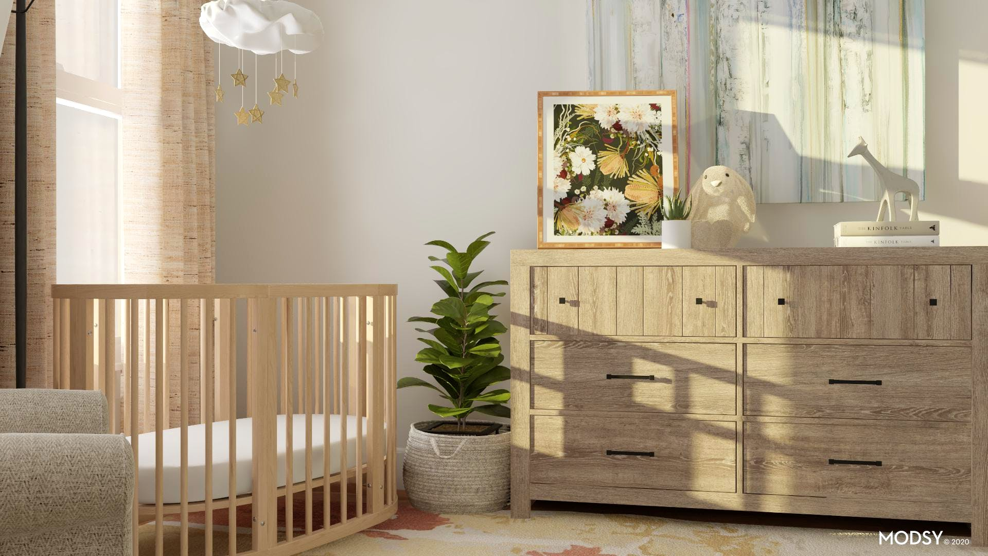 Peaceful Nursery With Earth tones!