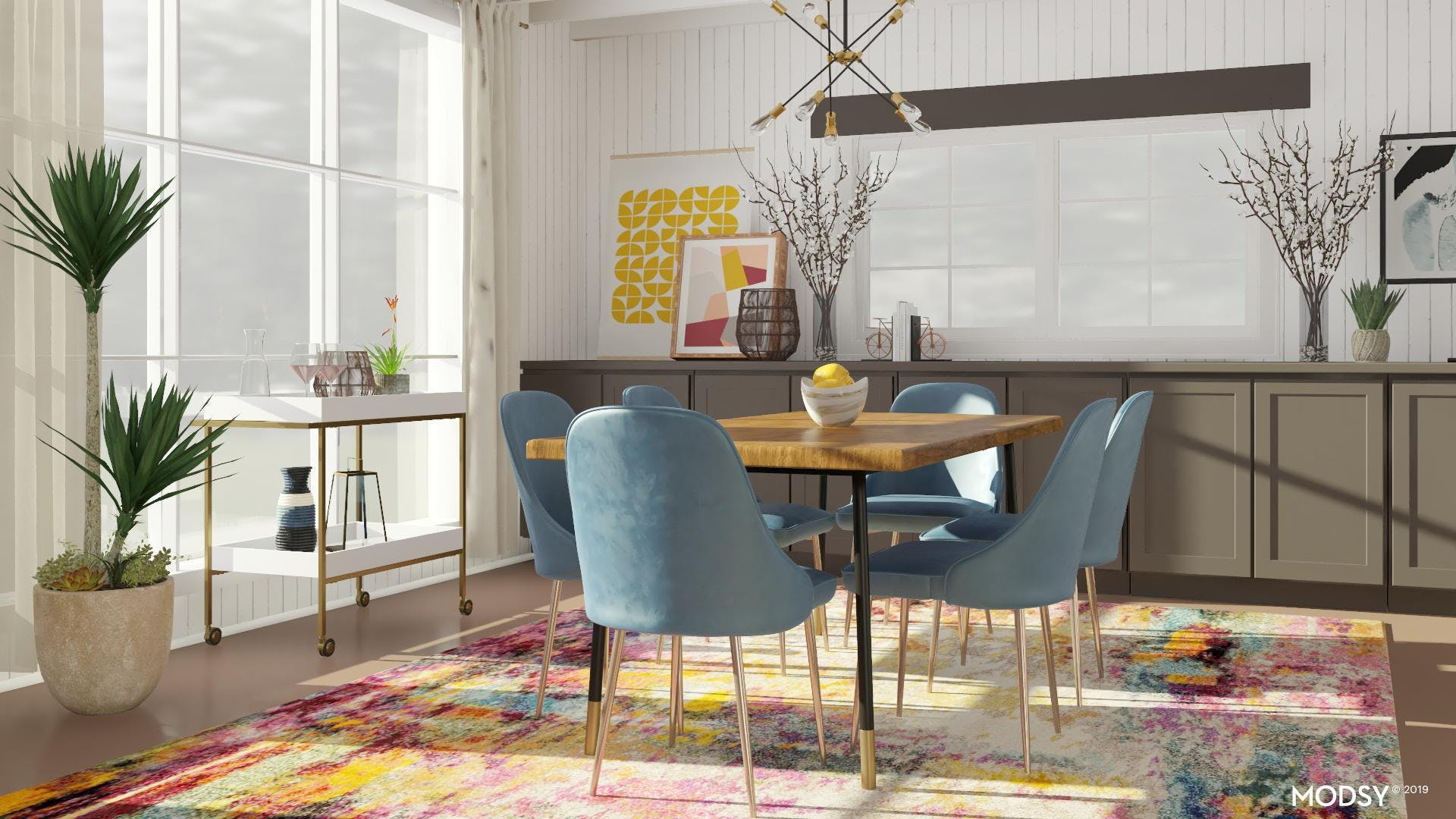 A Brightly Colored Dining Room