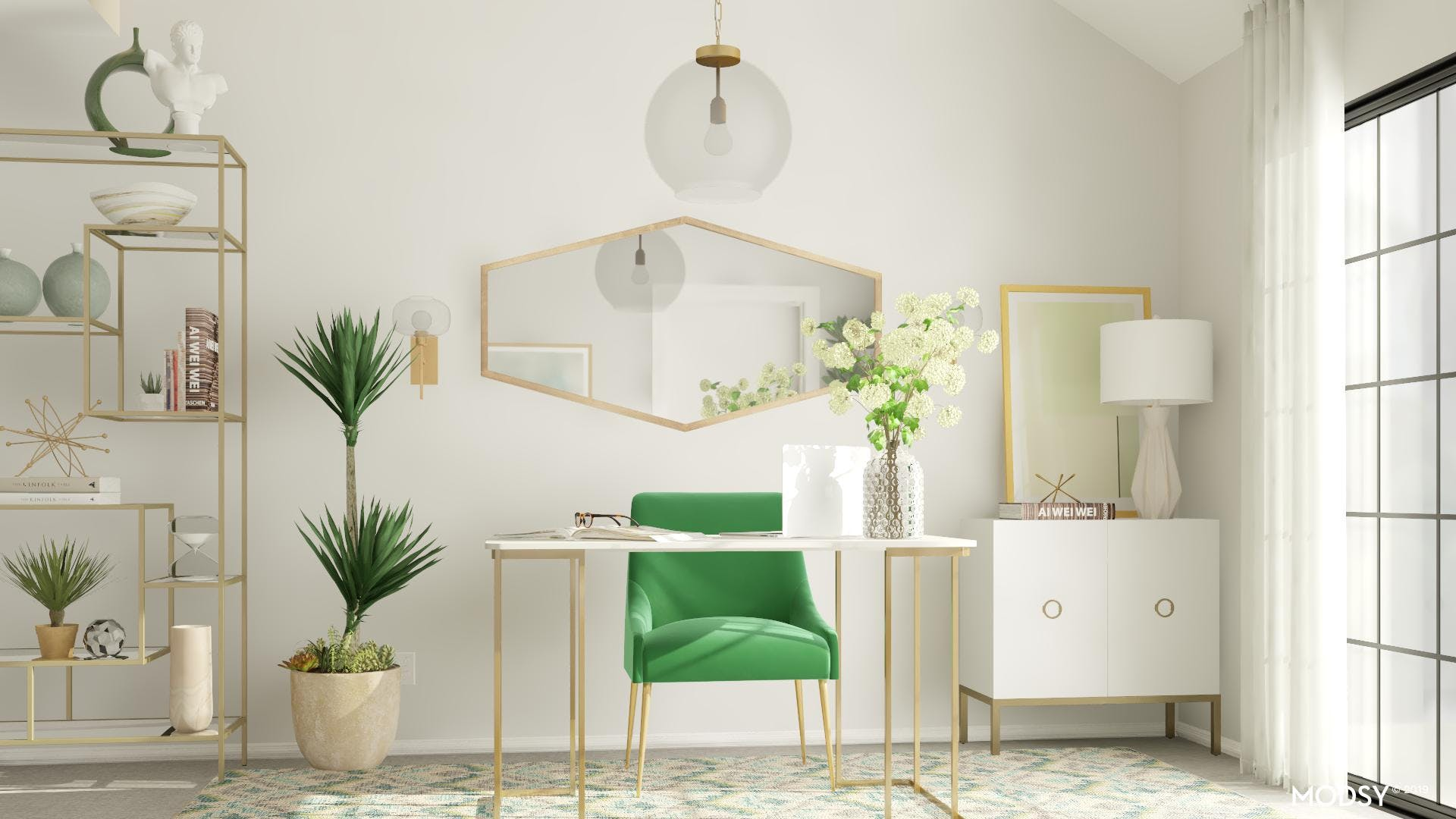 Mid-century Office -Gorgeous and Green
