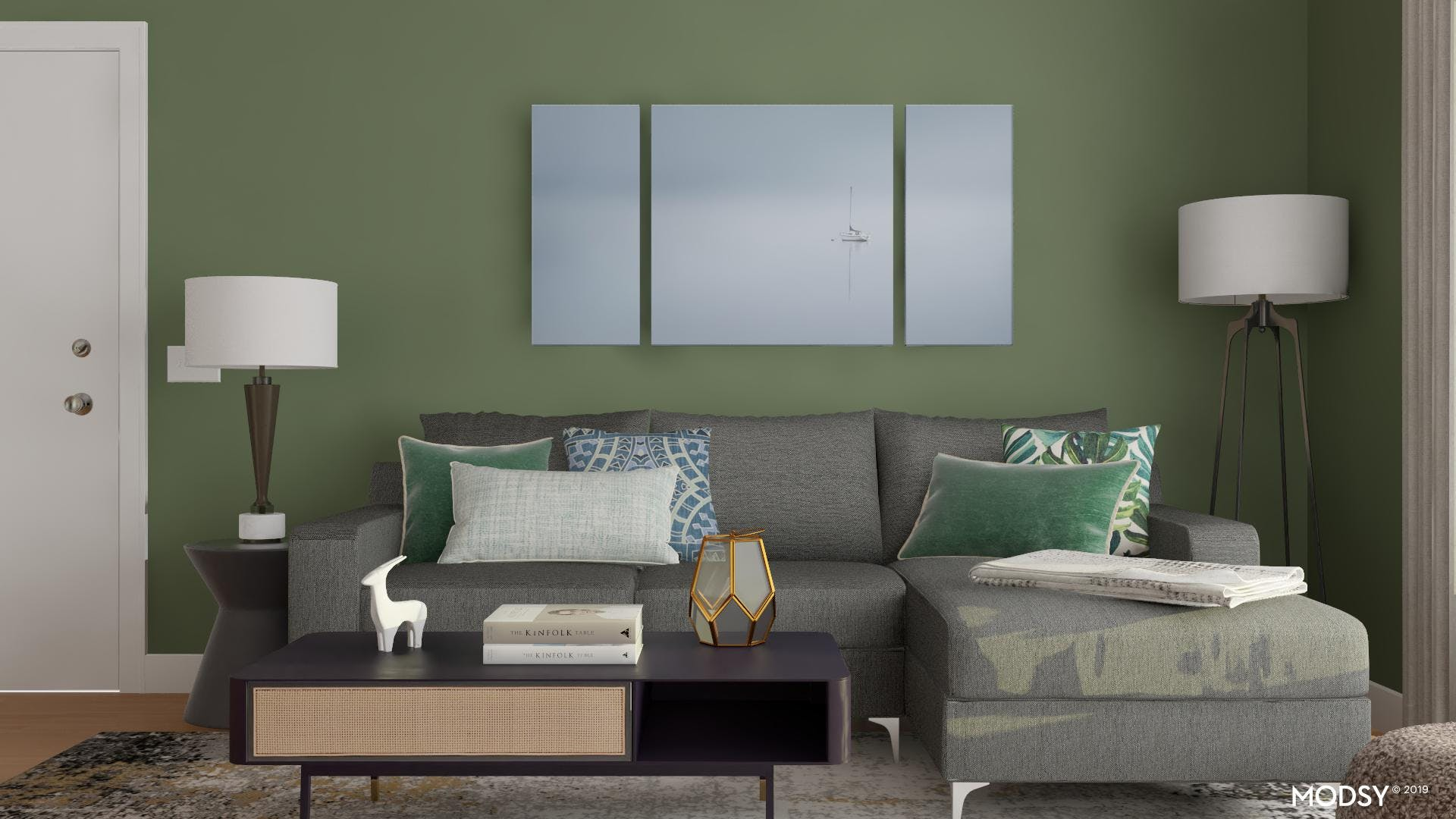 Accent With Cool Greens