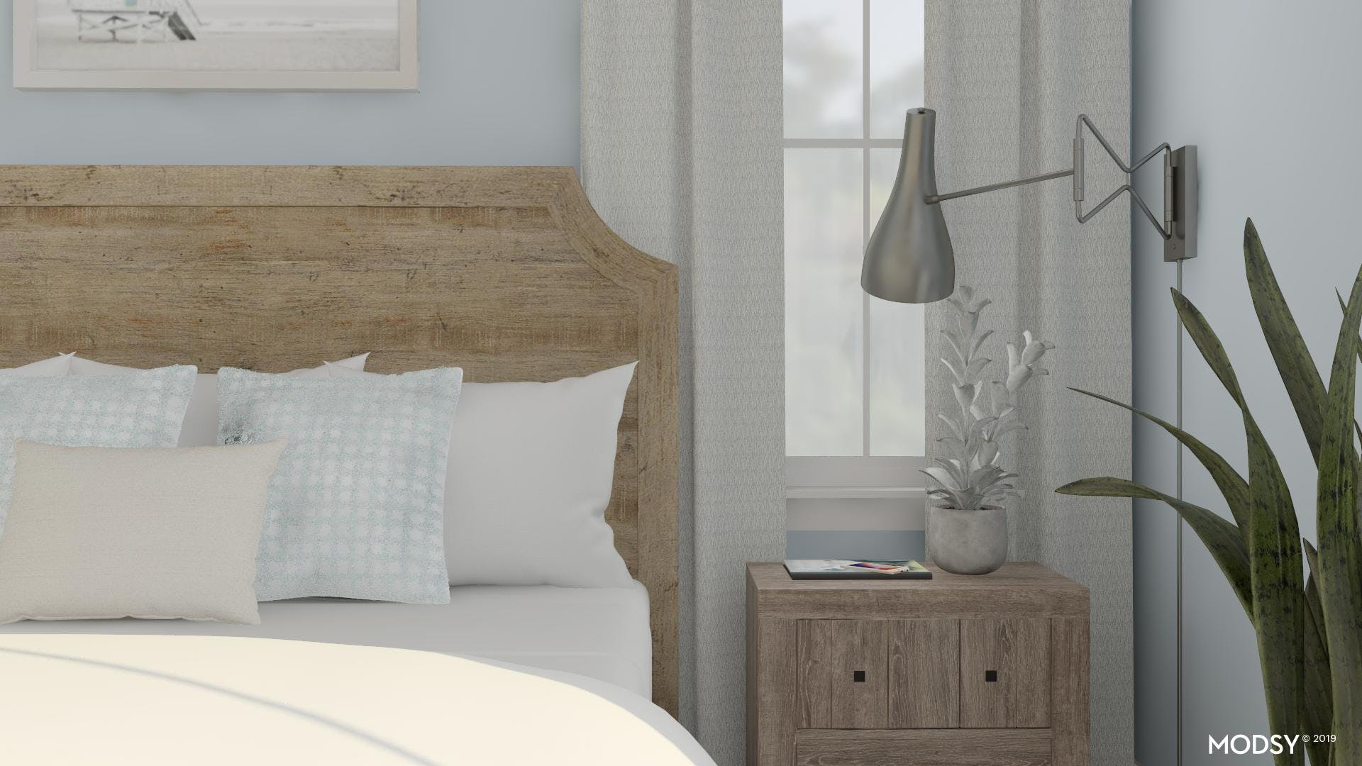 Master Bedroom Styling - Rustic Blues
