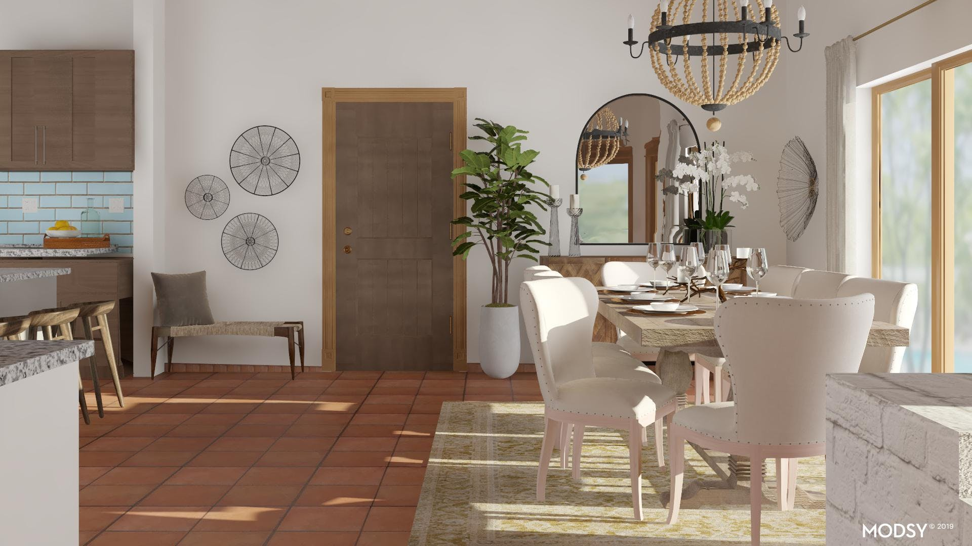 Neutrally New Rustic Dining