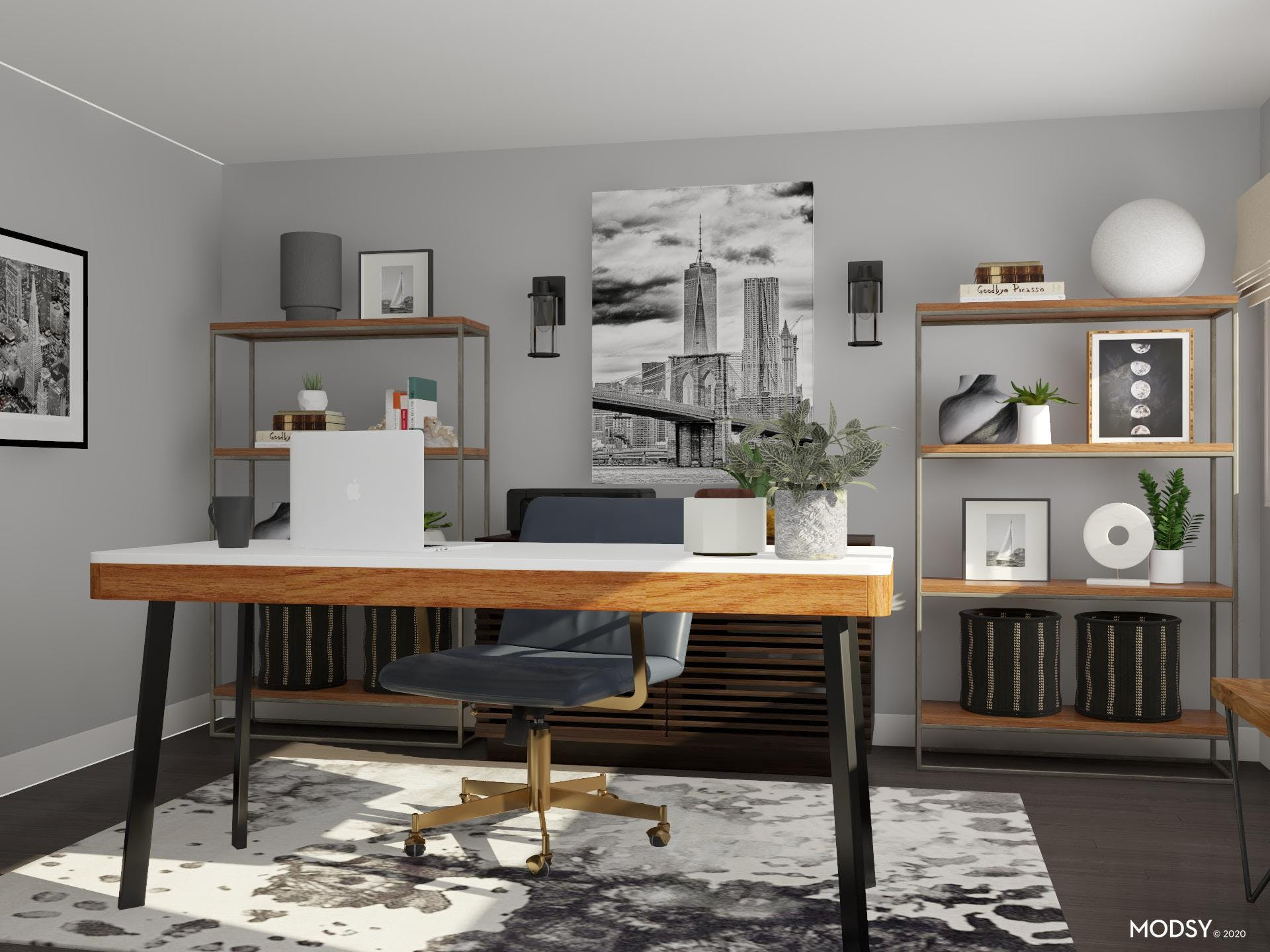 Neutral Industrial Office: Material Hallmarks