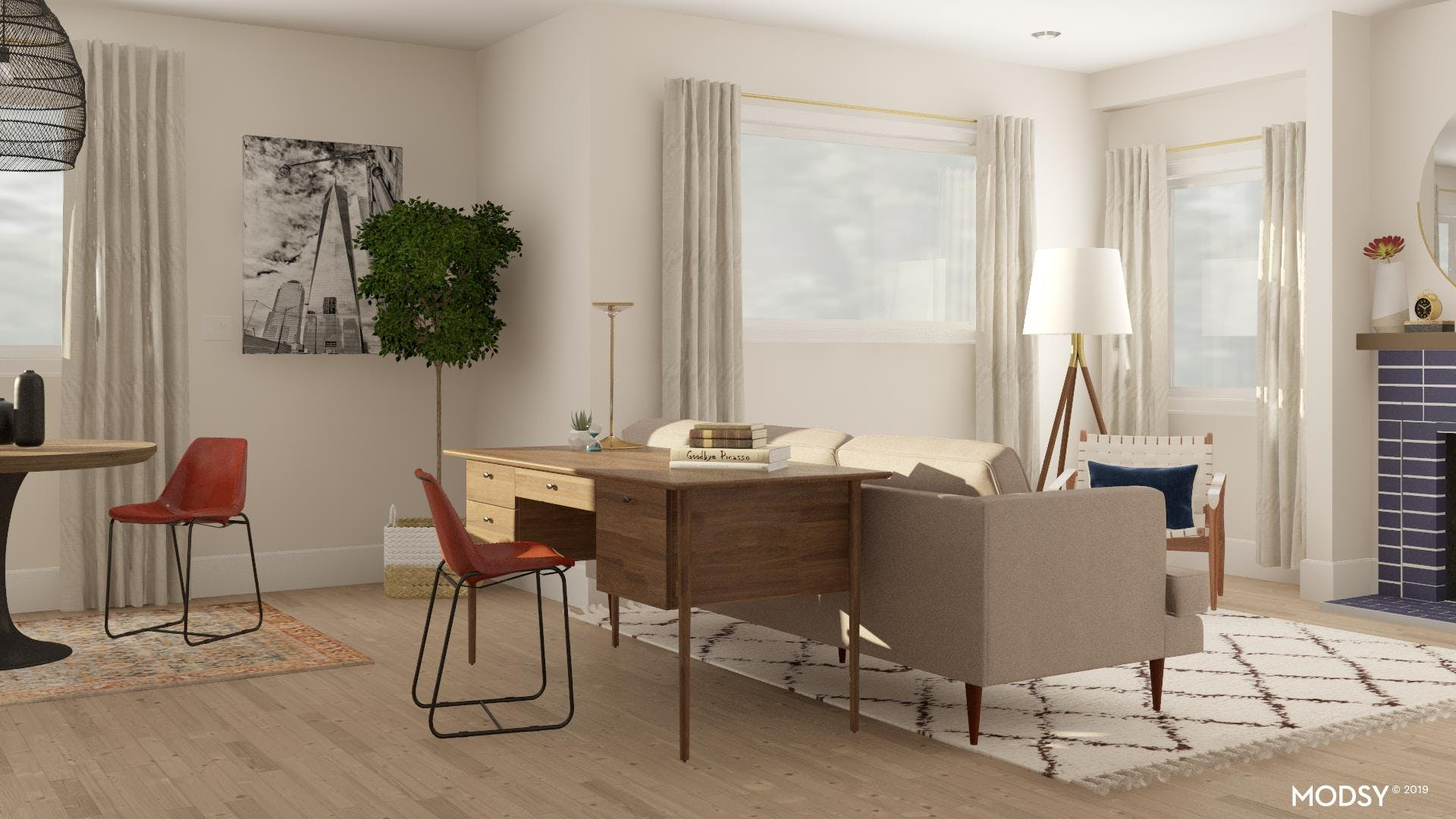 An Office Within Your Living Room